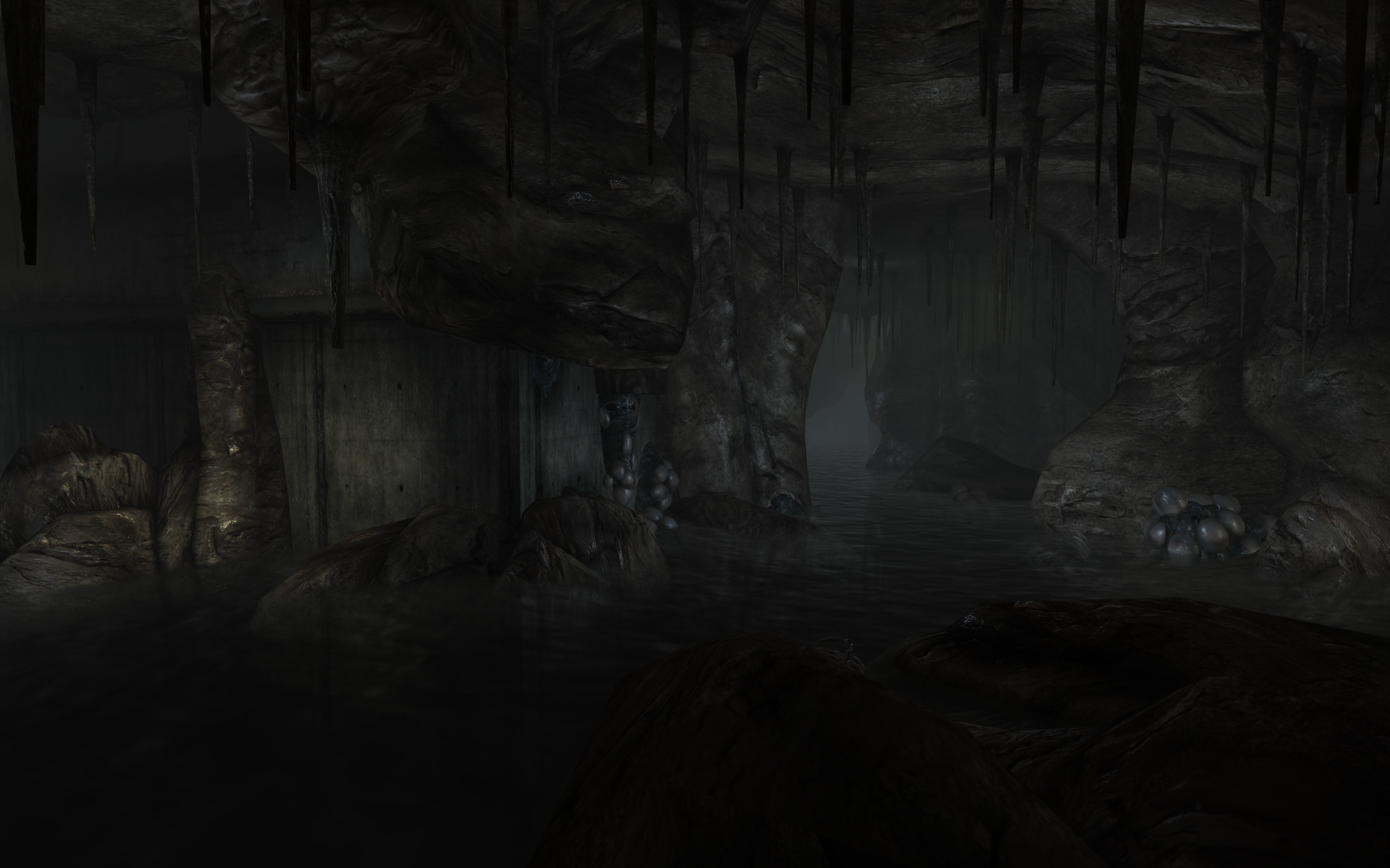 1920x1200 3d View Dark Underground Rivers Fallout 3 Wallpaper At 3d Wallpapers