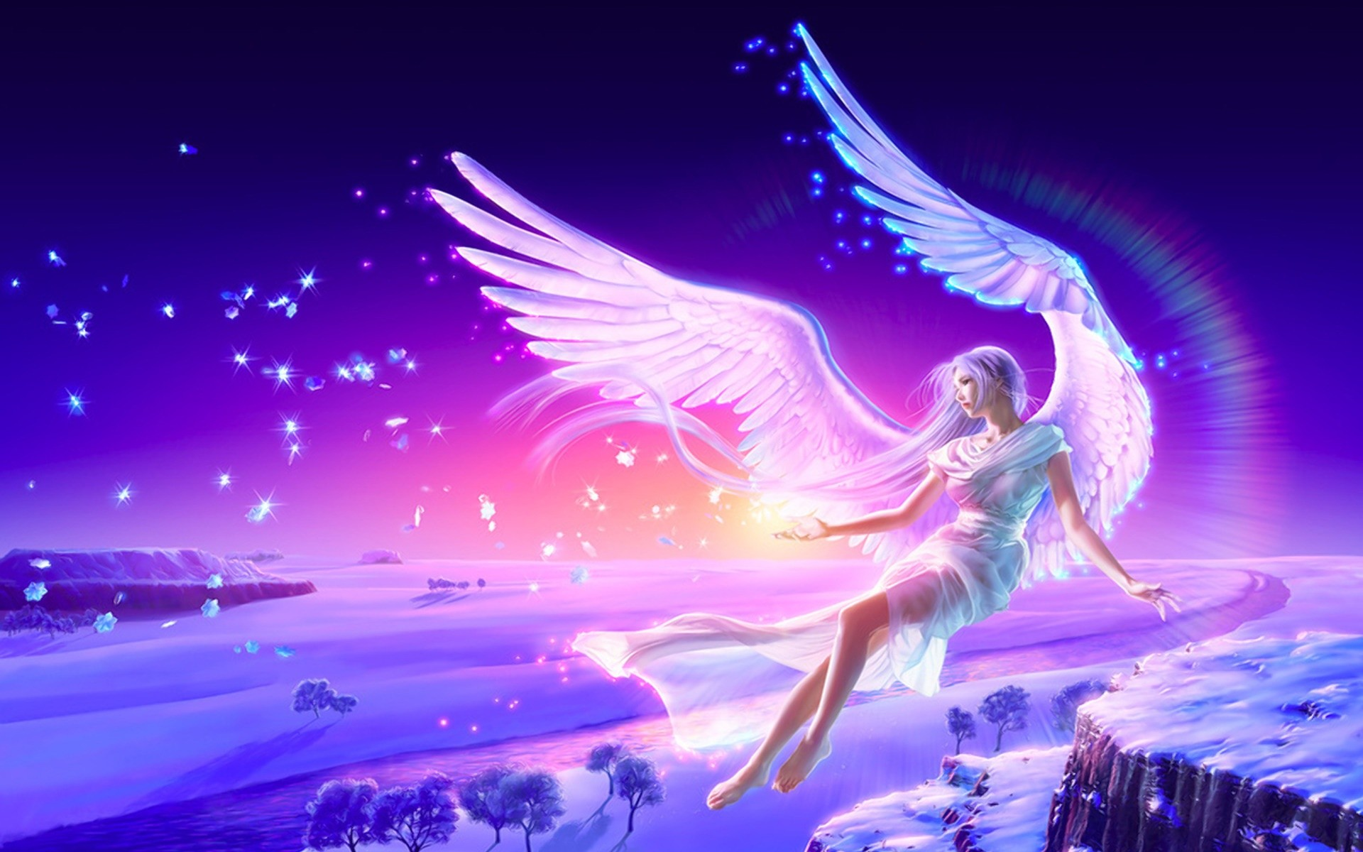 1920x1200 Fantasy - Angel - Wings - Women Wallpaper