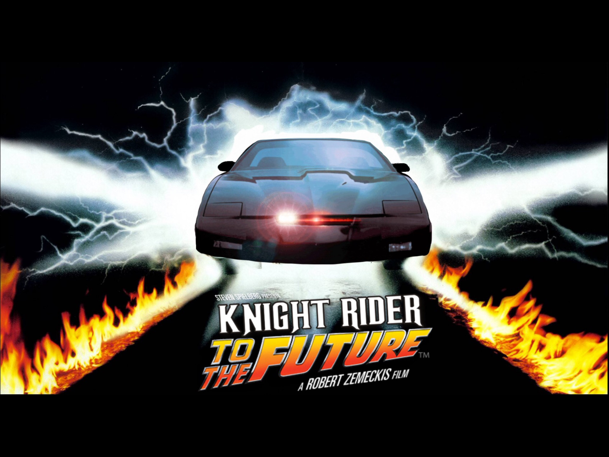 2048x1536 Knight Rider / Back to the Future Mashup