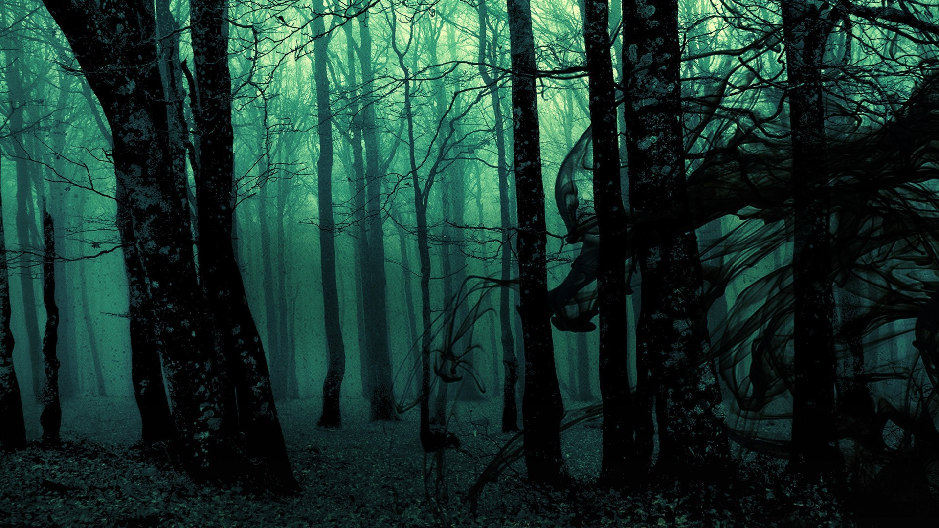 1920x1080 Dark ghost gothic wood trees fantasy evil horror wallpaper |  |  118275 | WallpaperUP