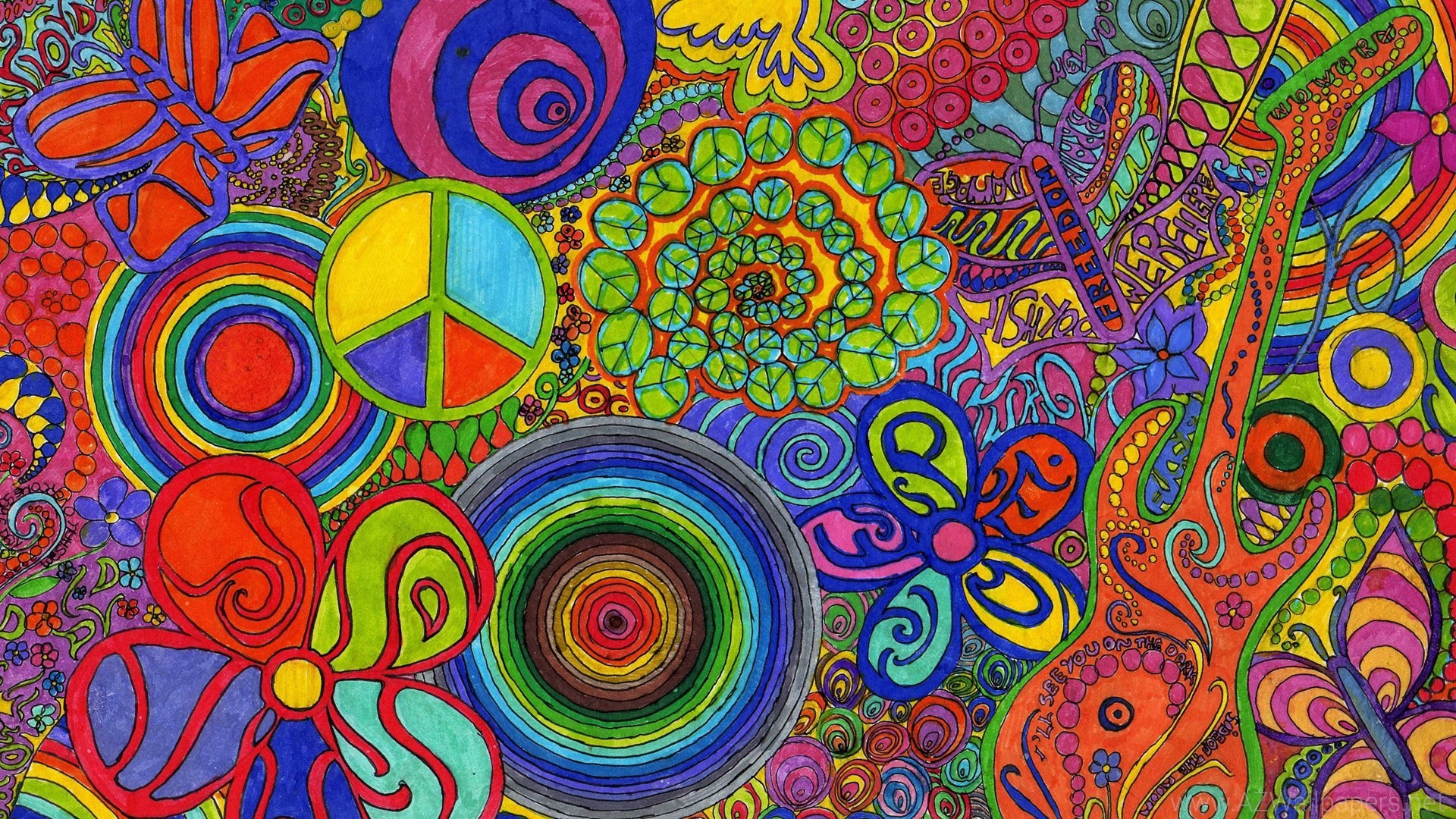 1920x1080 Agreeable Hippie Wallpaper Trippy Psychedelic The Sky HD Wallpaper .