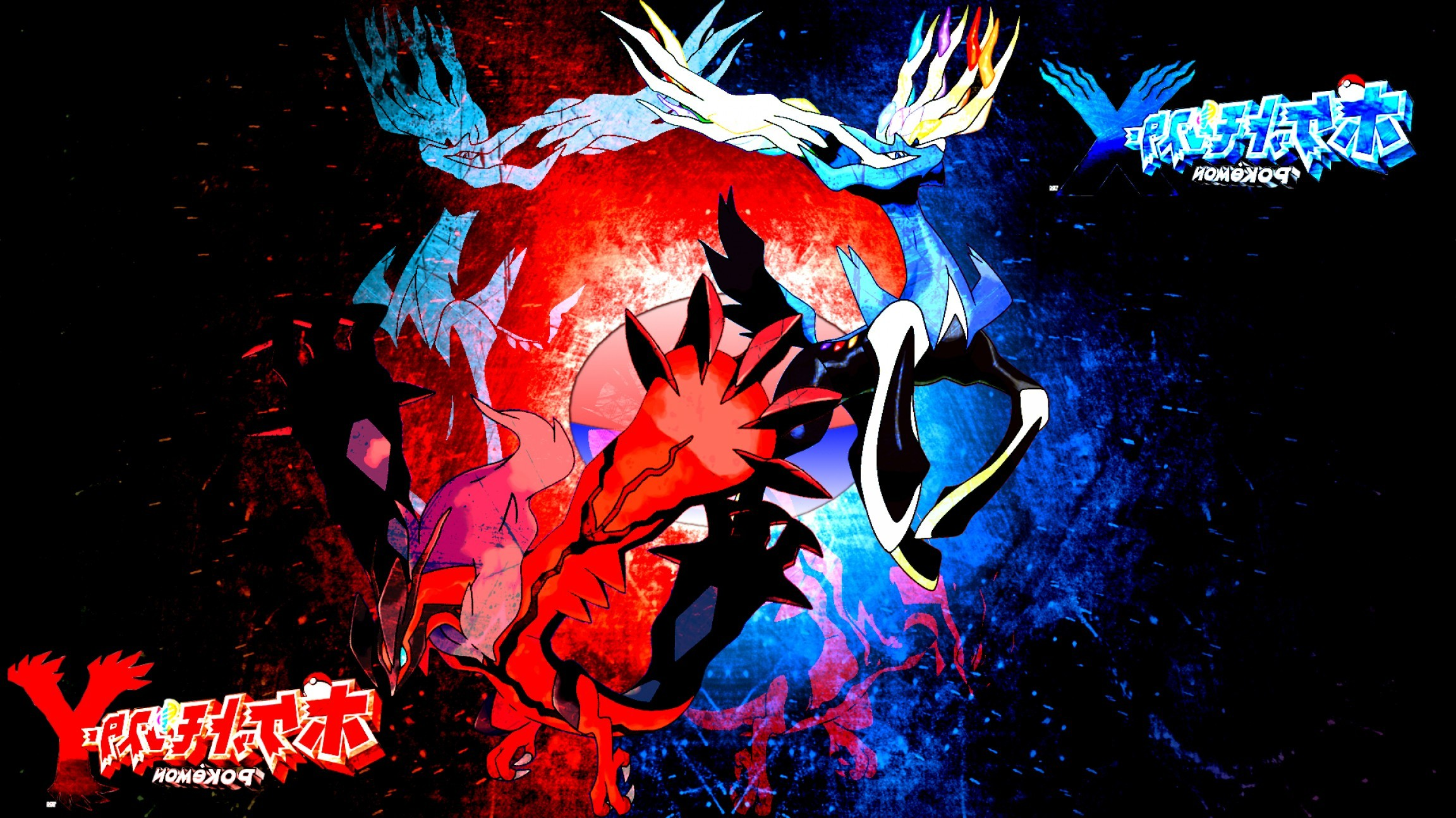 2304x1296 Pokemon X And Y Xerneas And Yveltal