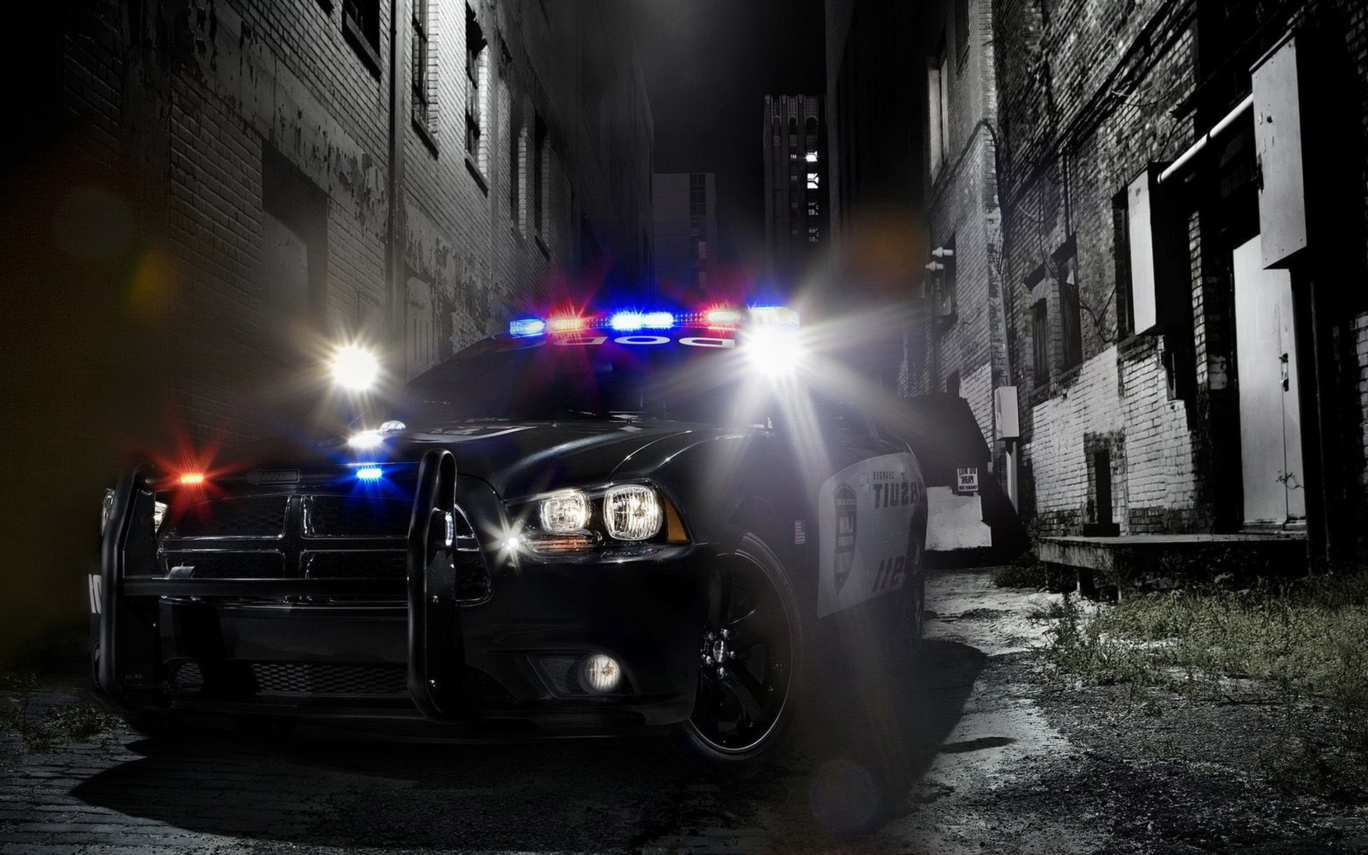 1920x1200 Police Car Wallpaper Background HD