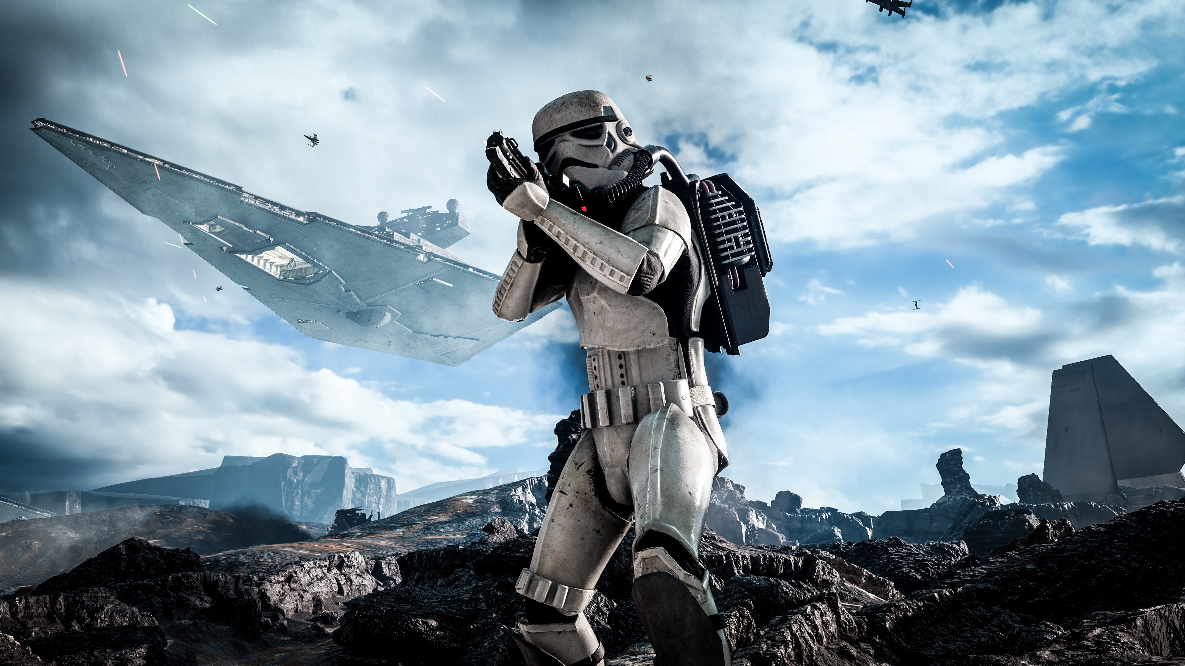 3840x2160 Preview wallpaper star wars, battlefront, electronic arts