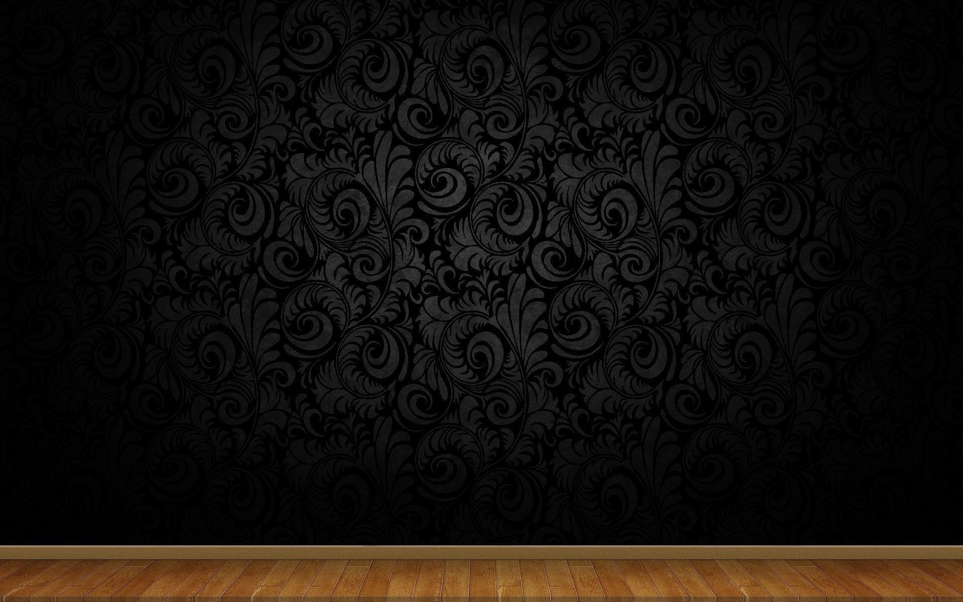 1920x1200 Creative flowery design abstact black theme wallpapers. Creative flowery  design abstact black theme wallpapers HD