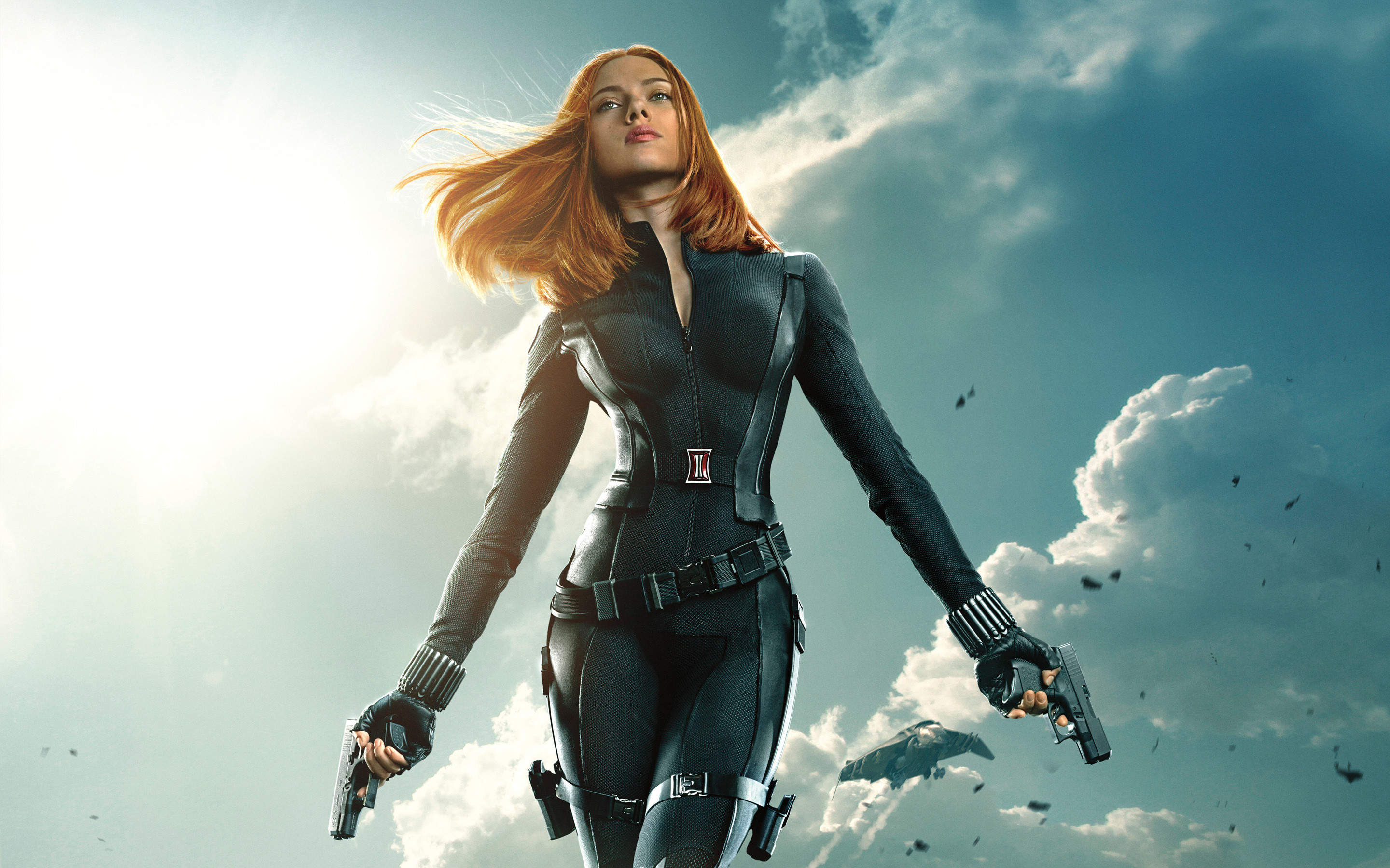 2880x1800 Black Widow Captain America The Winter Soldier