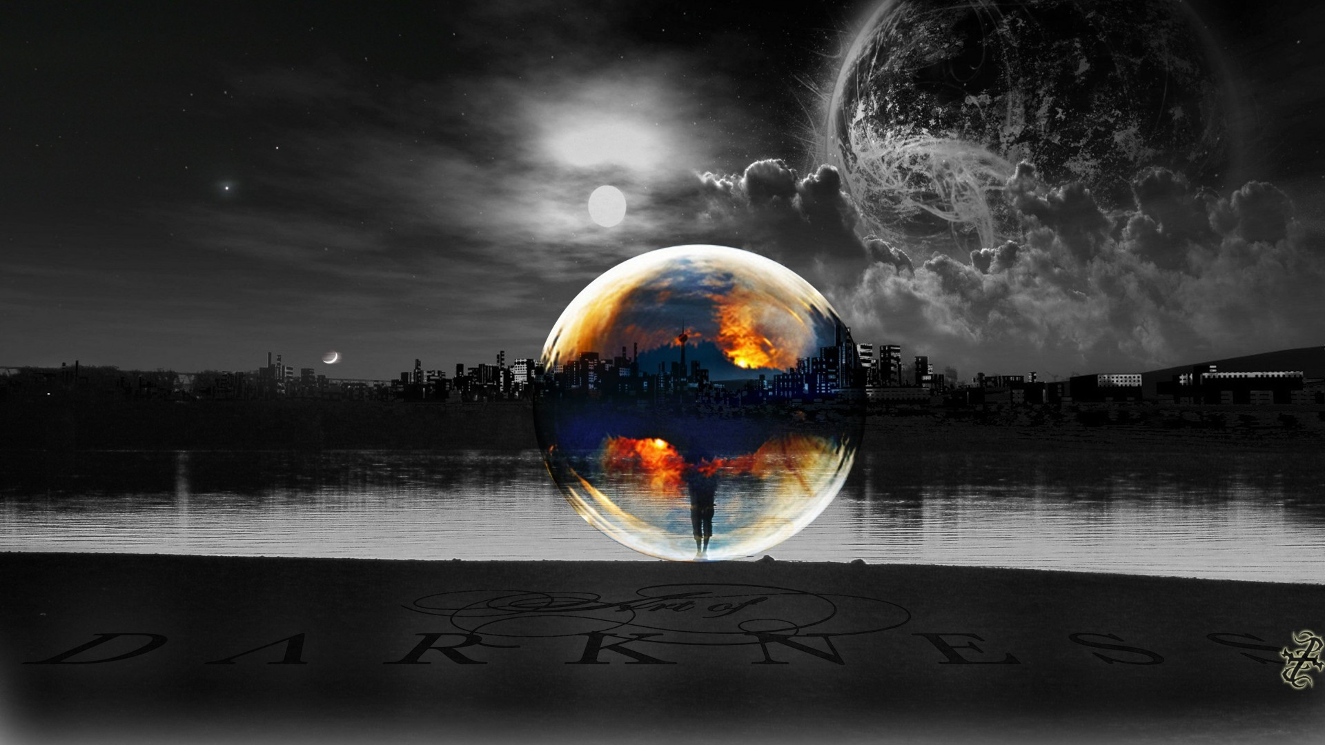 1920x1080 Selective, Coloring, Moon, Lakes, Sun, Bubbles, Cityscapes, Planets, Wide,  Hd, Wallpaper, Download Wallpaper, Cool Images, Widescreen, 1920×1080  Wallpaper ...