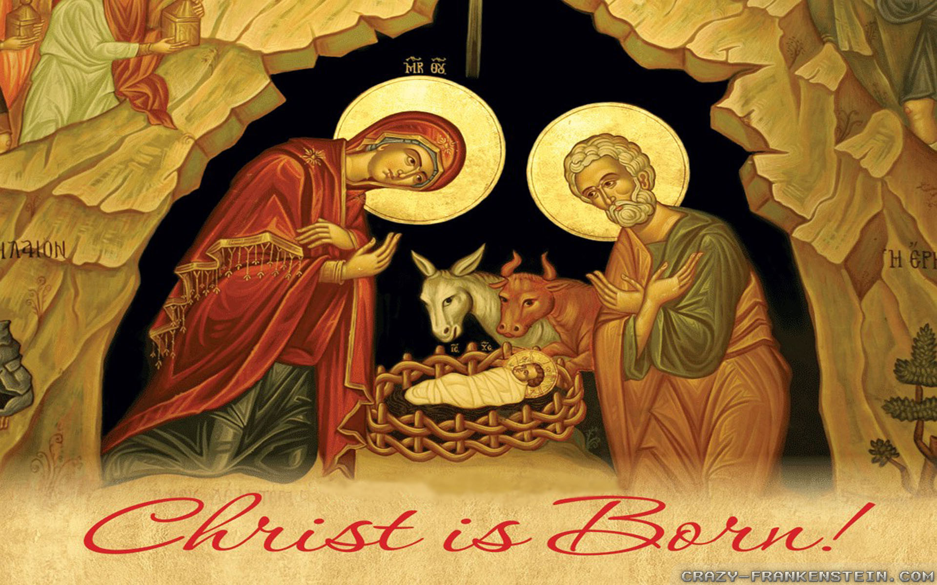 1920x1200 Wallpaper: Born Christian Christmas wallpapers. Resolution: 1024x768 |  1280x1024 | 1600x1200. Widescreen Res: 1440x900 | 1680x1050 |