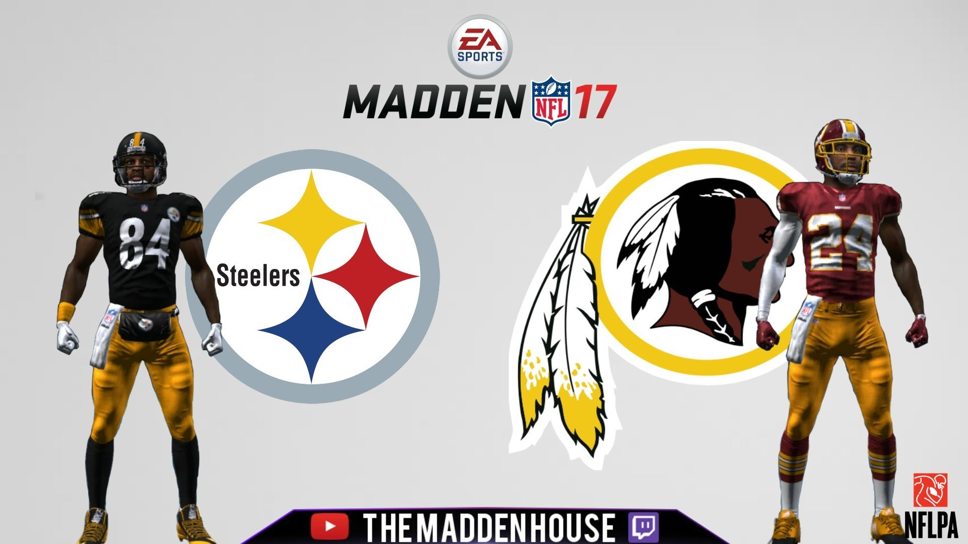 1920x1080 Madden 17 (PS4): Week 1 Prediction- Pittsburgh Steelers @ Washington  Redskins FULL GAME HD - YouTube