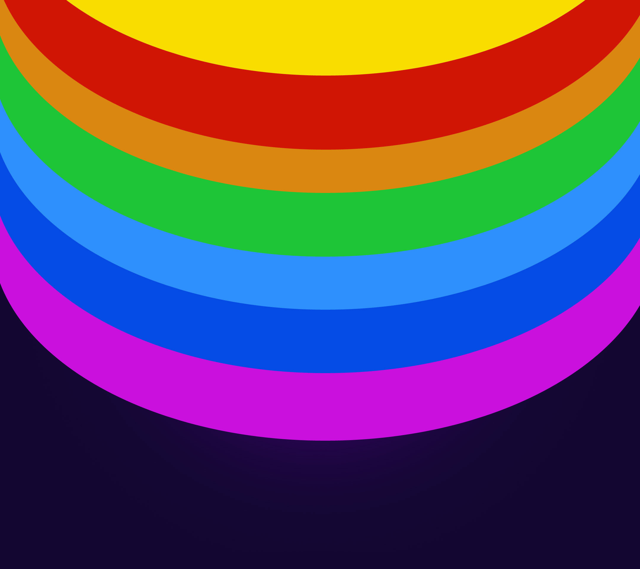 2160x1920 Rainbow colored circles Wallpaper
