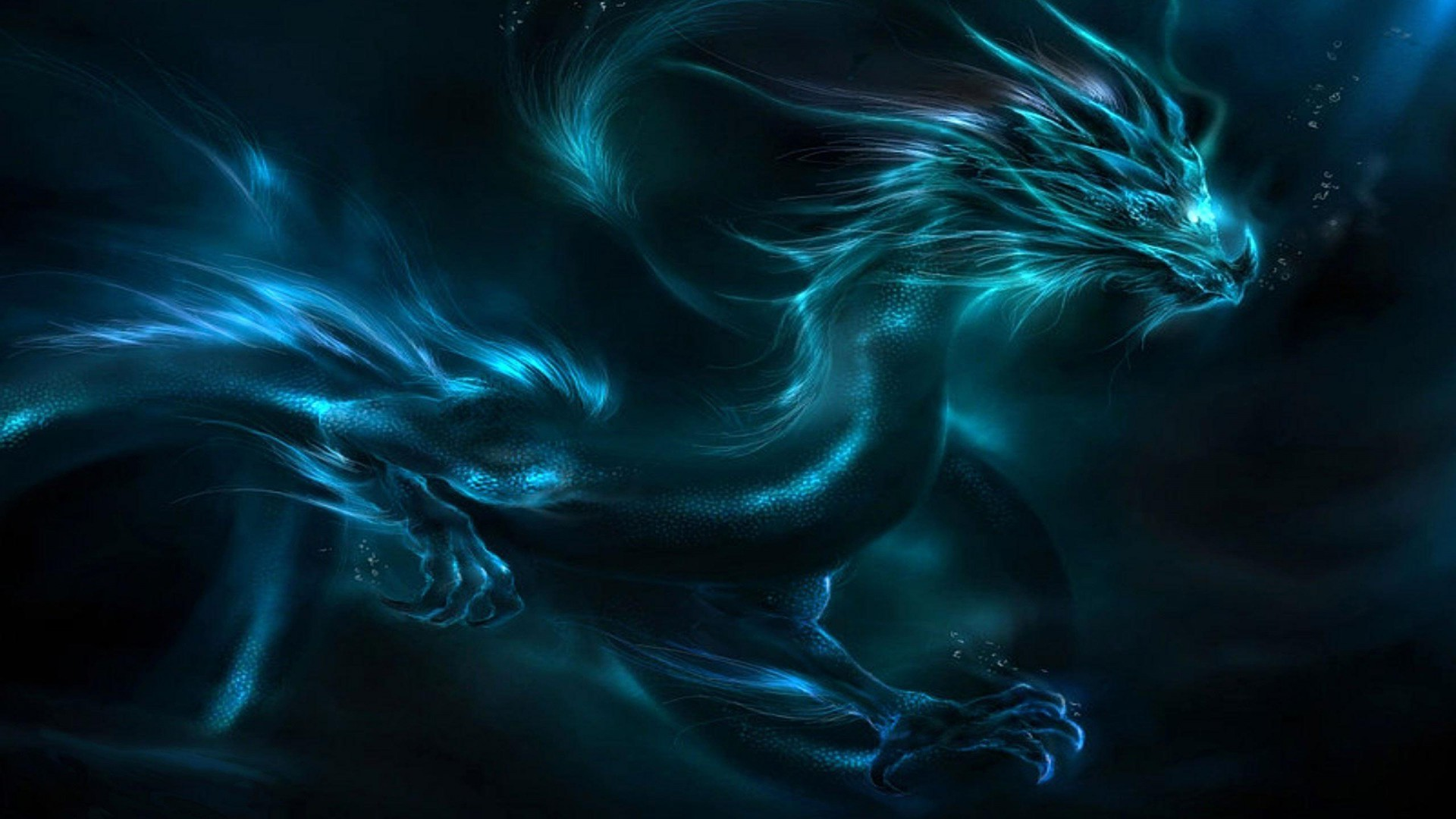 1920x1080 Full Fantasy Blue Dragon Wallpaper  Full HD Wallpapers
