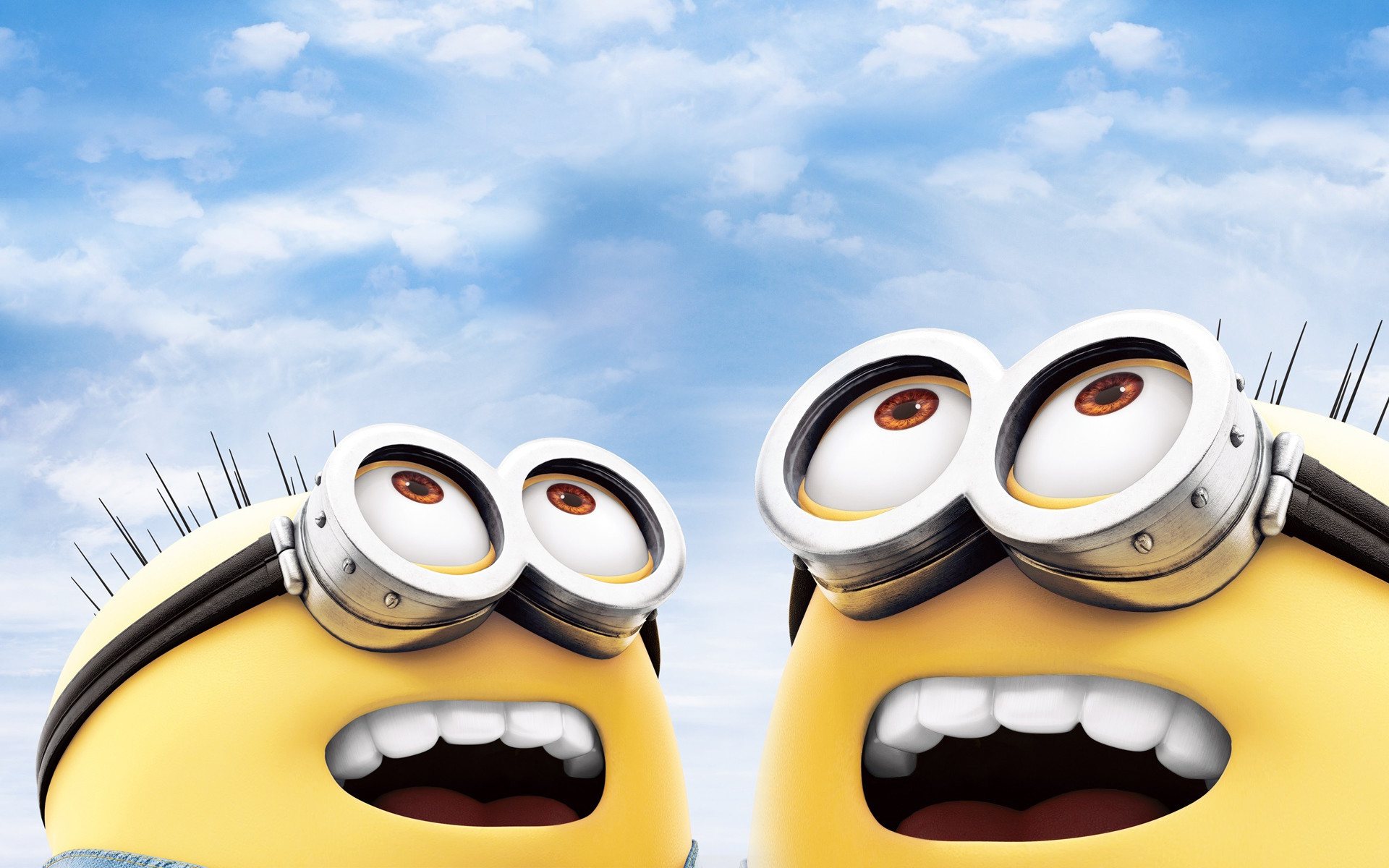 1920x1200 Minions laughing Desktop Wallpaper.