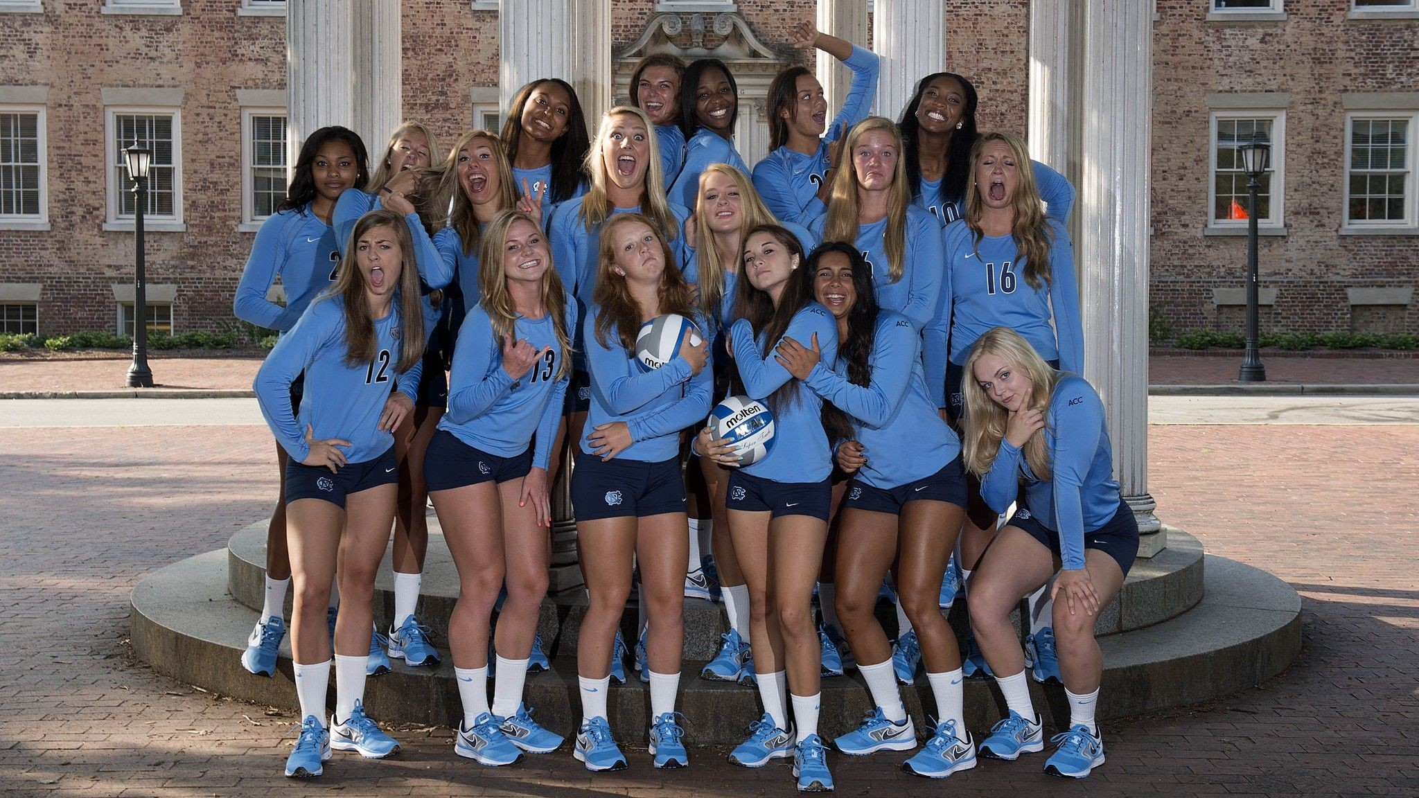 2048x1152 Photo: UNC Volleyball Team Wallpaper 2013 - Tar Heel Times