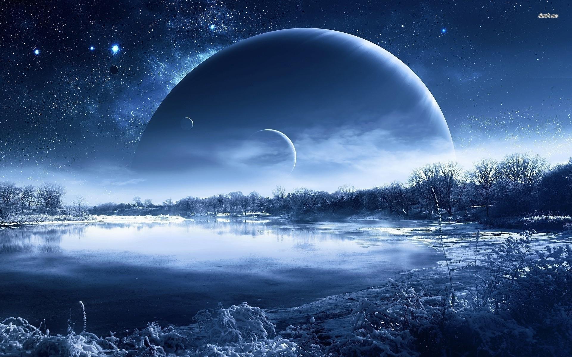Fantasy Planets Wallpa...