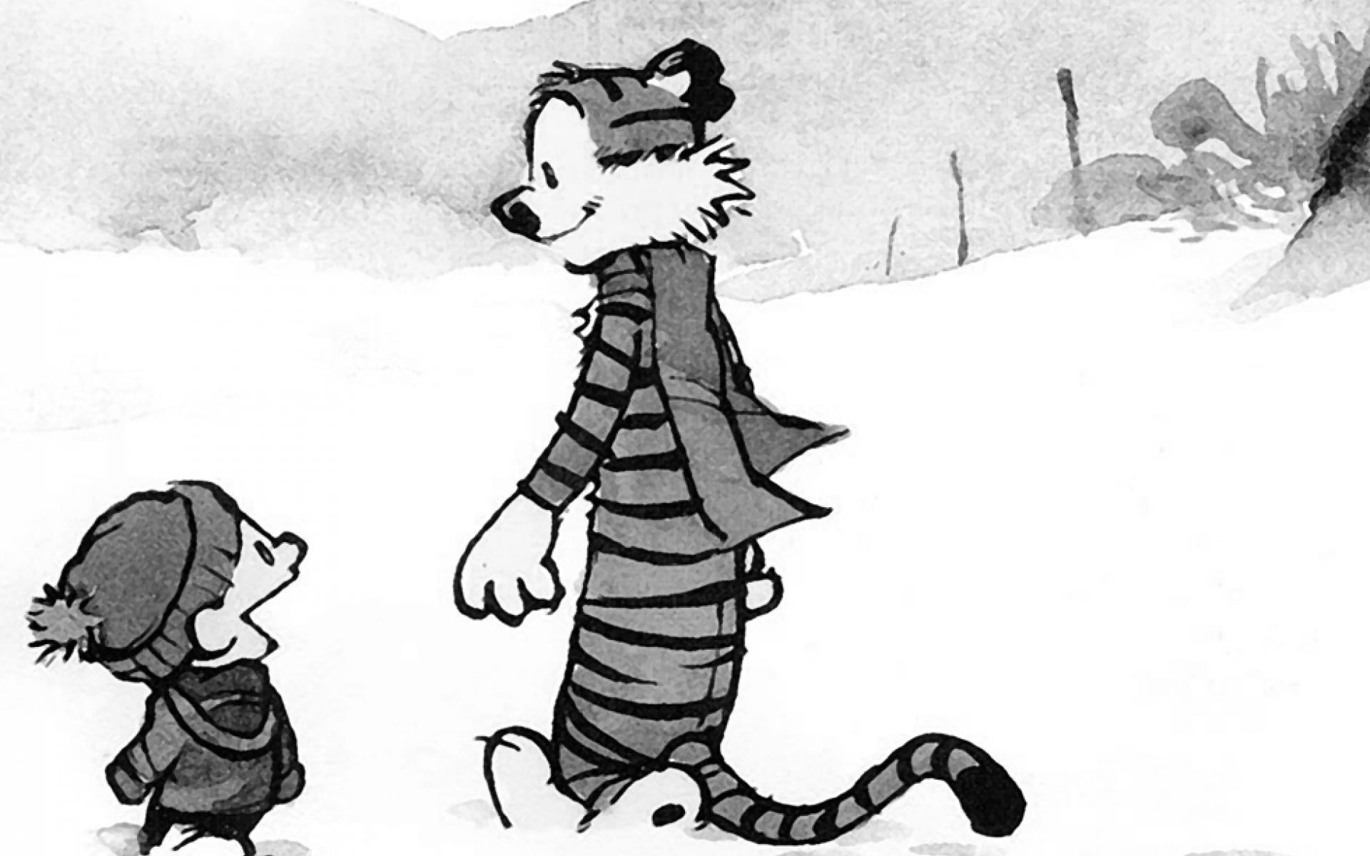 1920x1200 Winter-comics-tigers-calvin-and-hobbes-desktop-hd-