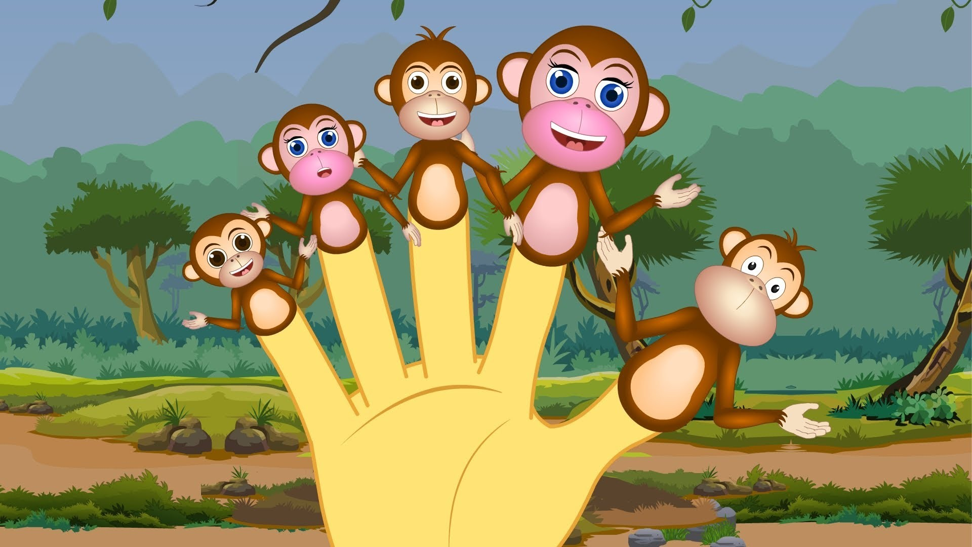 1920x1080 The Finger Family Monkey's Family Nursery Rhyme | Finger Family Songs For  Children - YouTube