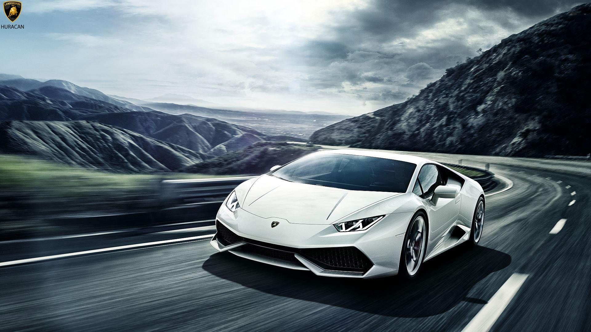 1920x1080 White Latest Lamborghini Huracan Wallpaper Hd