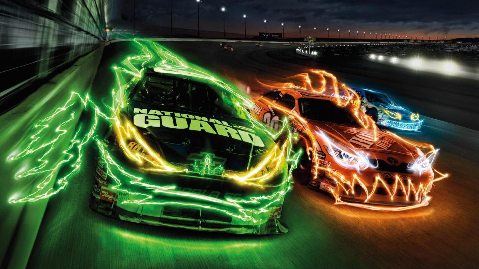 Green Race Car Wallpaper