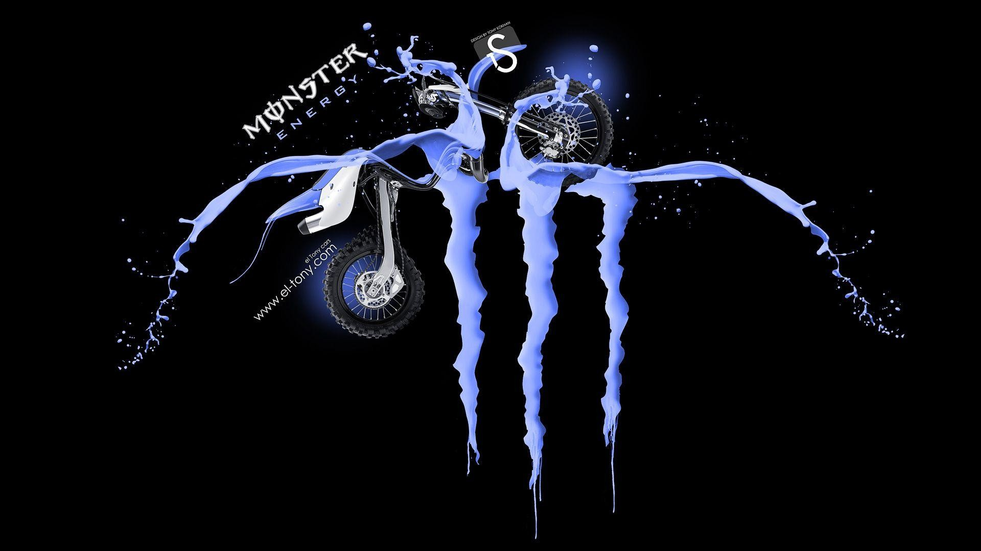 1920x1080 Monster Energy Logo Blue Fantasy Wallpaper #2875 Wallpaper | Wall  .