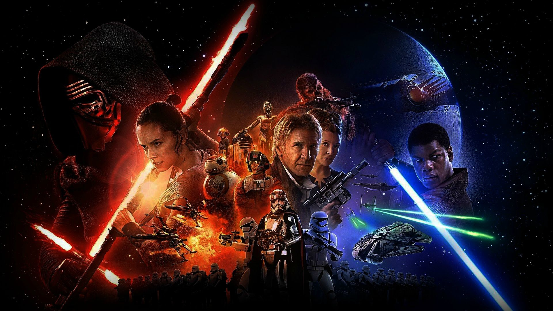1920x1080 Wallpaper Weekends Bonus: Star Wars: The Force Awakens Wallpapers for Apple  Watch