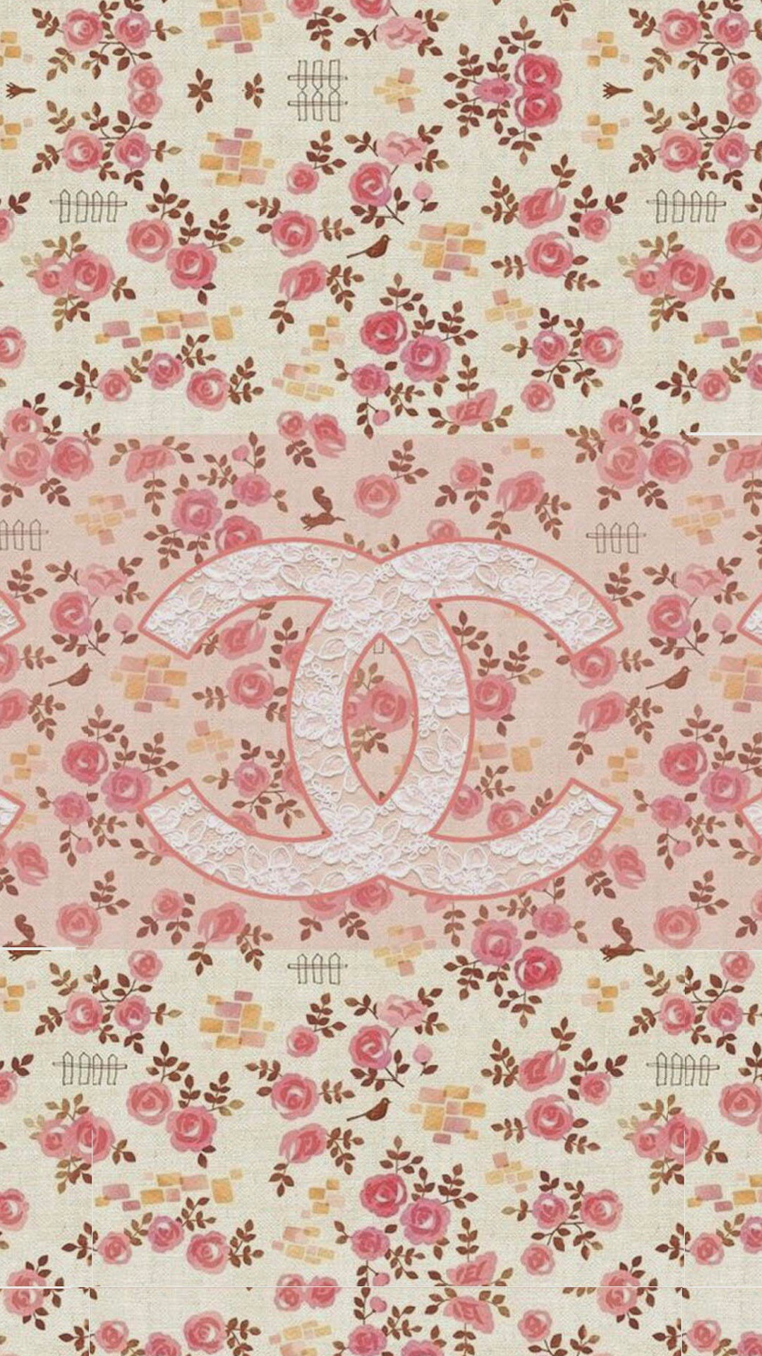 1080x1920 Coco Chanel Flowers Pattern Logo iPhone 6 Wallpaper Download | iPhone .