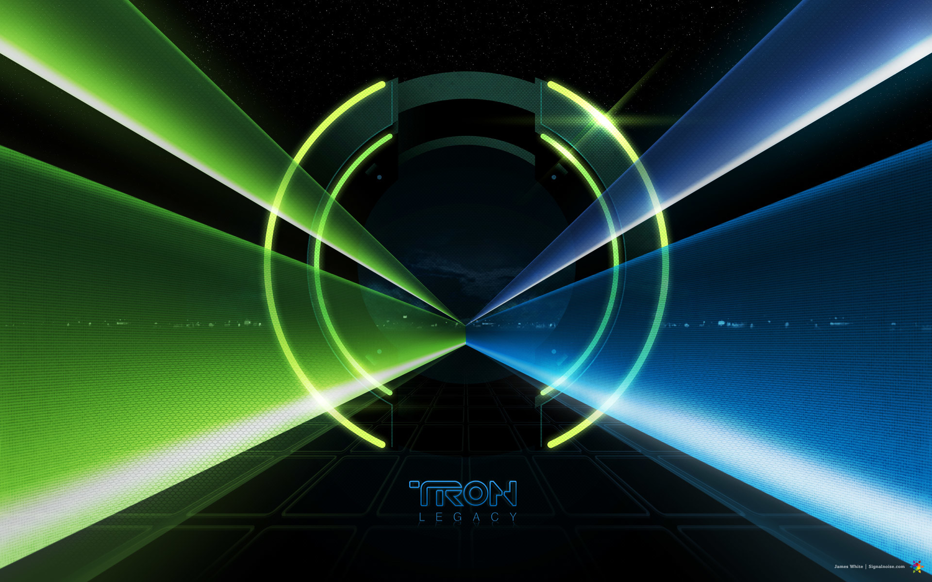 1920x1200 light tunnel from Disney's Tron Legacy movie wallpaper