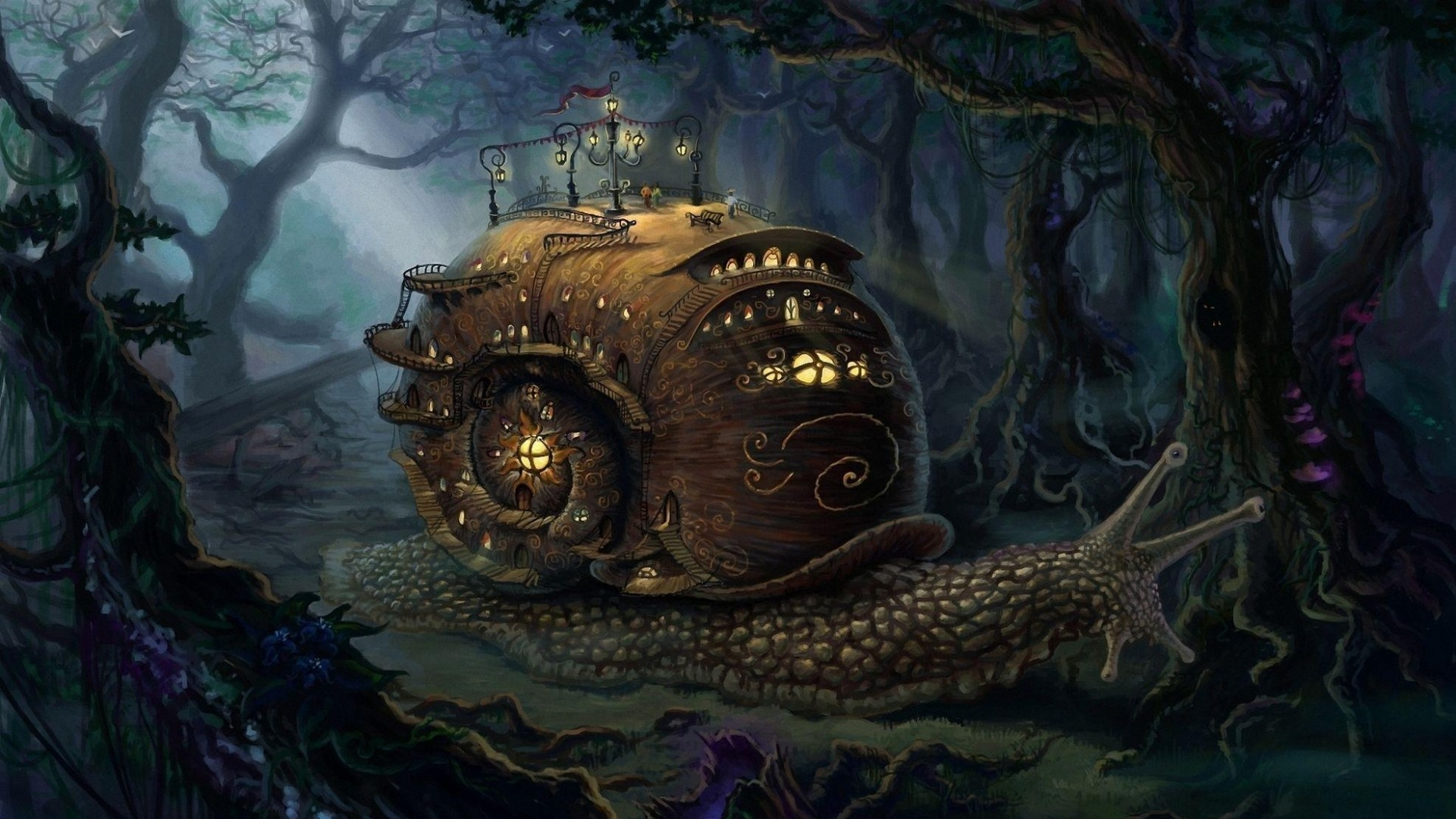 1920x1080 Fantasy Forest Hd High Quality Wallpapers HD Wallpapers  px 1.05  MB | Wallpapers | Pinterest | Fantasy art landscapes, Steampunk city and  Steampunk