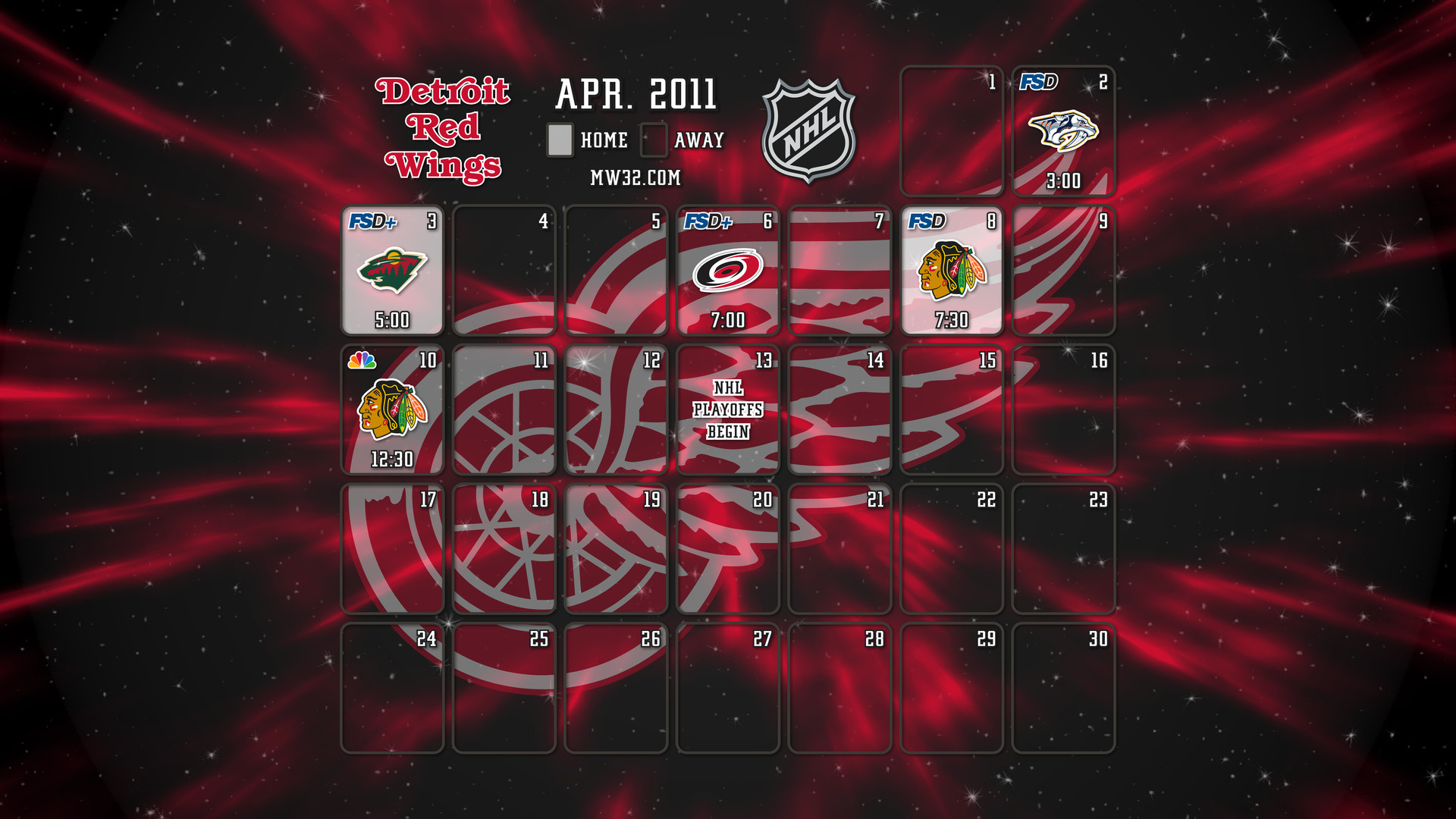 1920x1080 Detroit Red Wings widescreen wallpaper #453