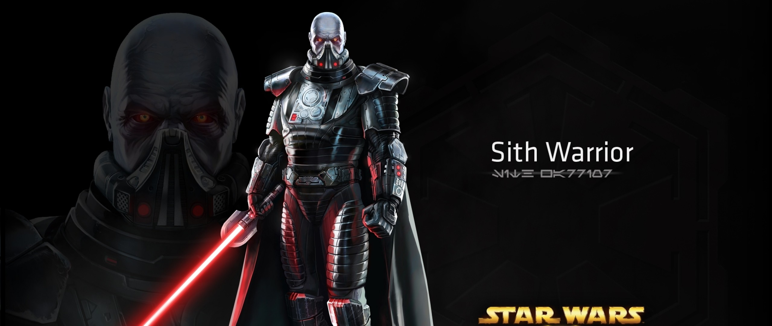 2560x1080 Preview wallpaper star wars the old republic, sith warrior, character,  lightsaber
