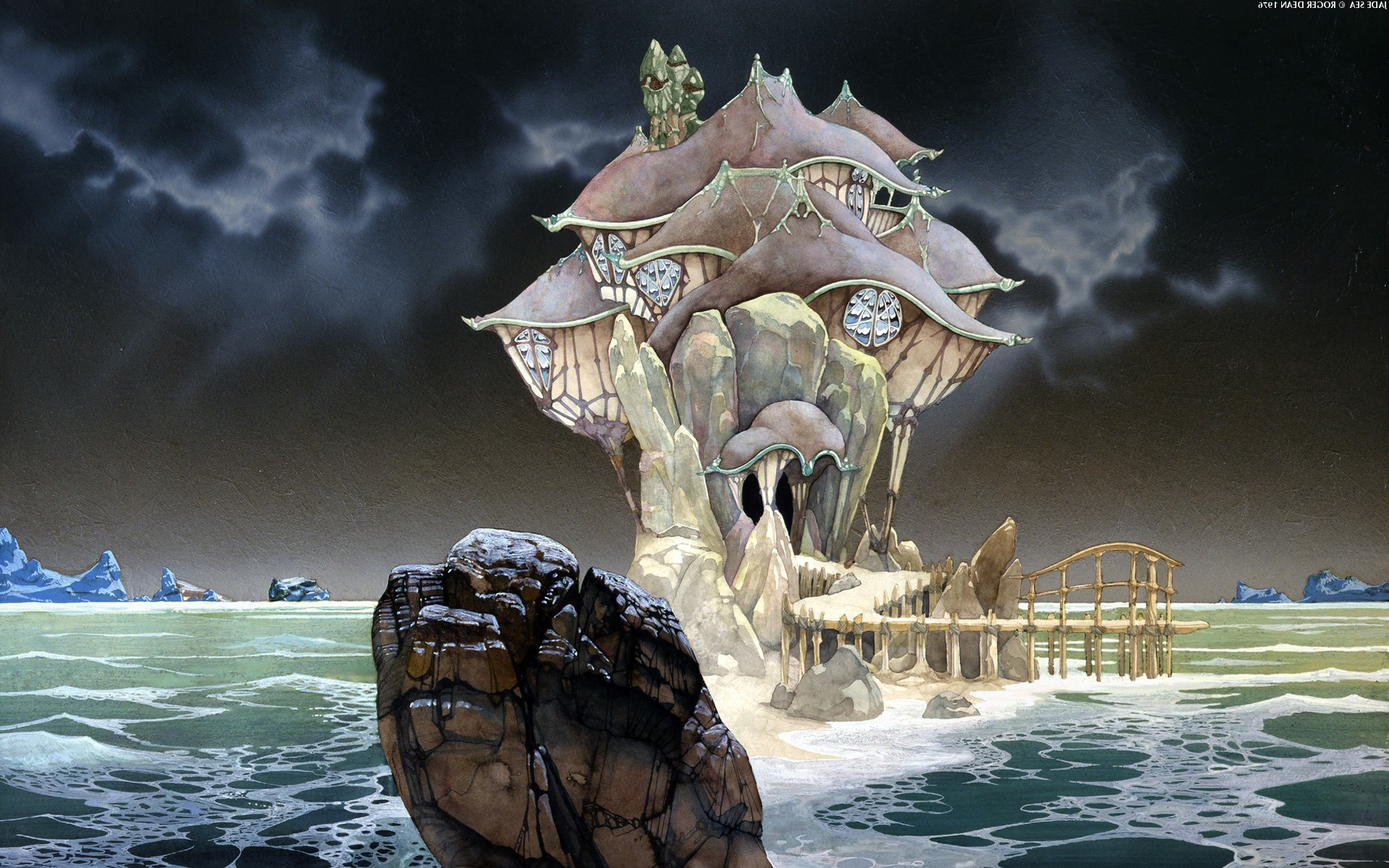 1920x1200 Roger Dean, Fantasy Art, Rock, Sea Wallpapers HD / Desktop and Mobile  Backgrounds