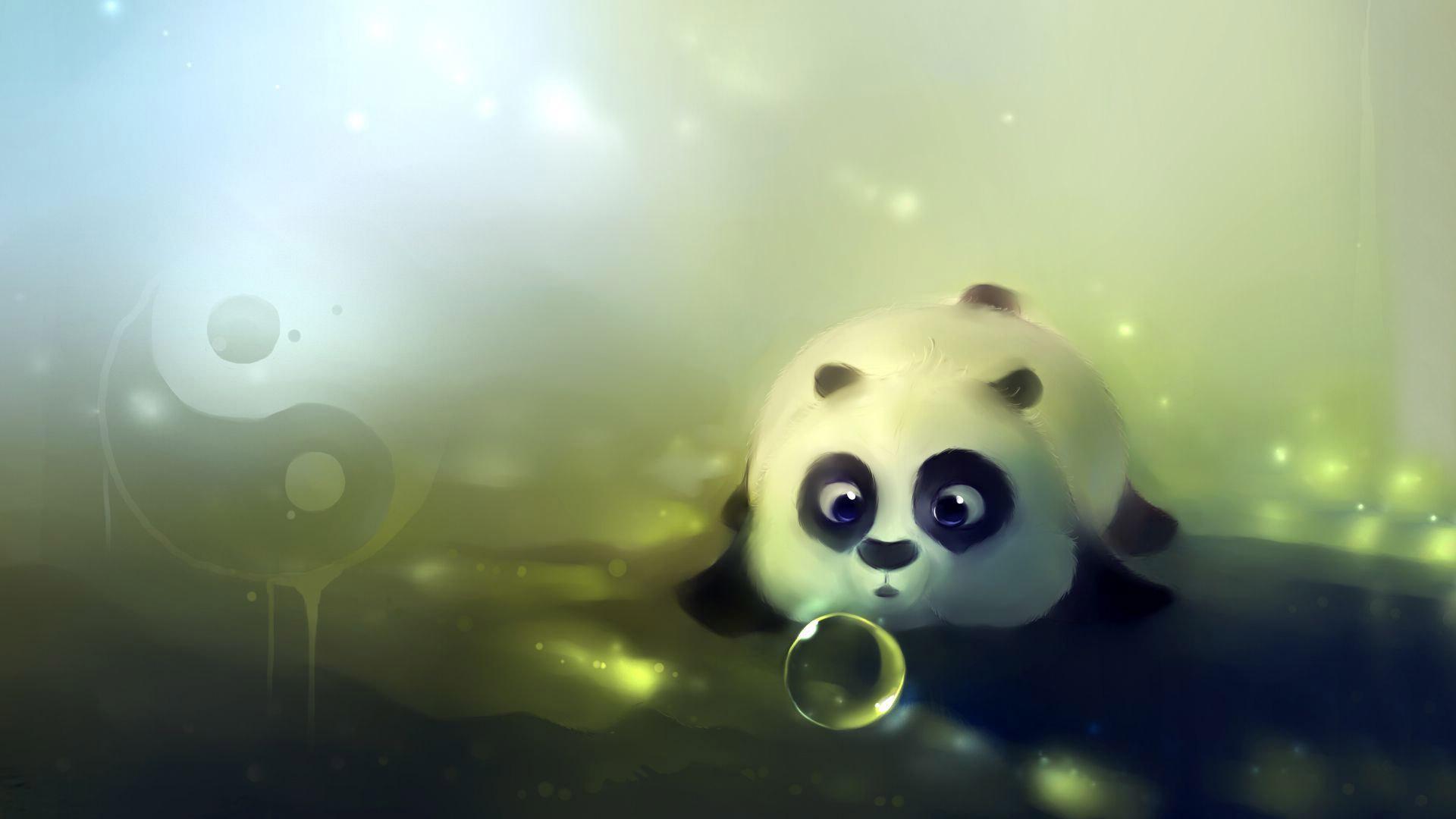 panda bear cartoon wallpaper