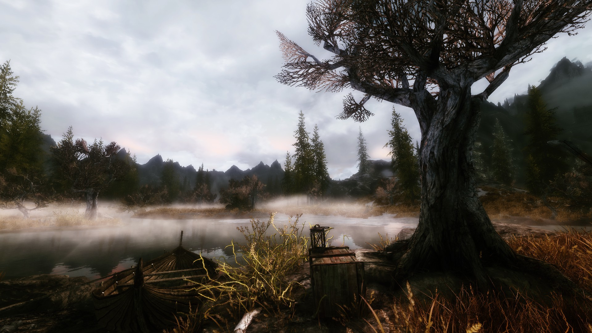 1920x1080 Skyrim Game Scenery