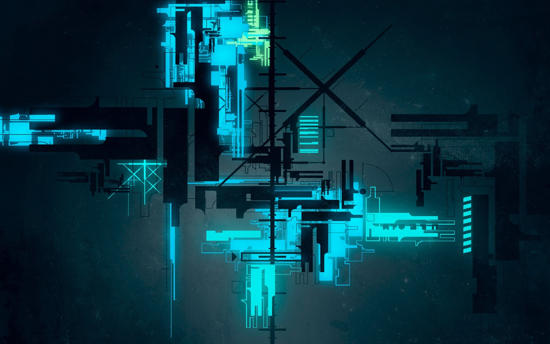 1920x1200 digital Art, Abstract, Lines, CGI, Neon Light, Glowing, Technology,  Geometry Wallpapers HD / Desktop and Mobile Backgrounds