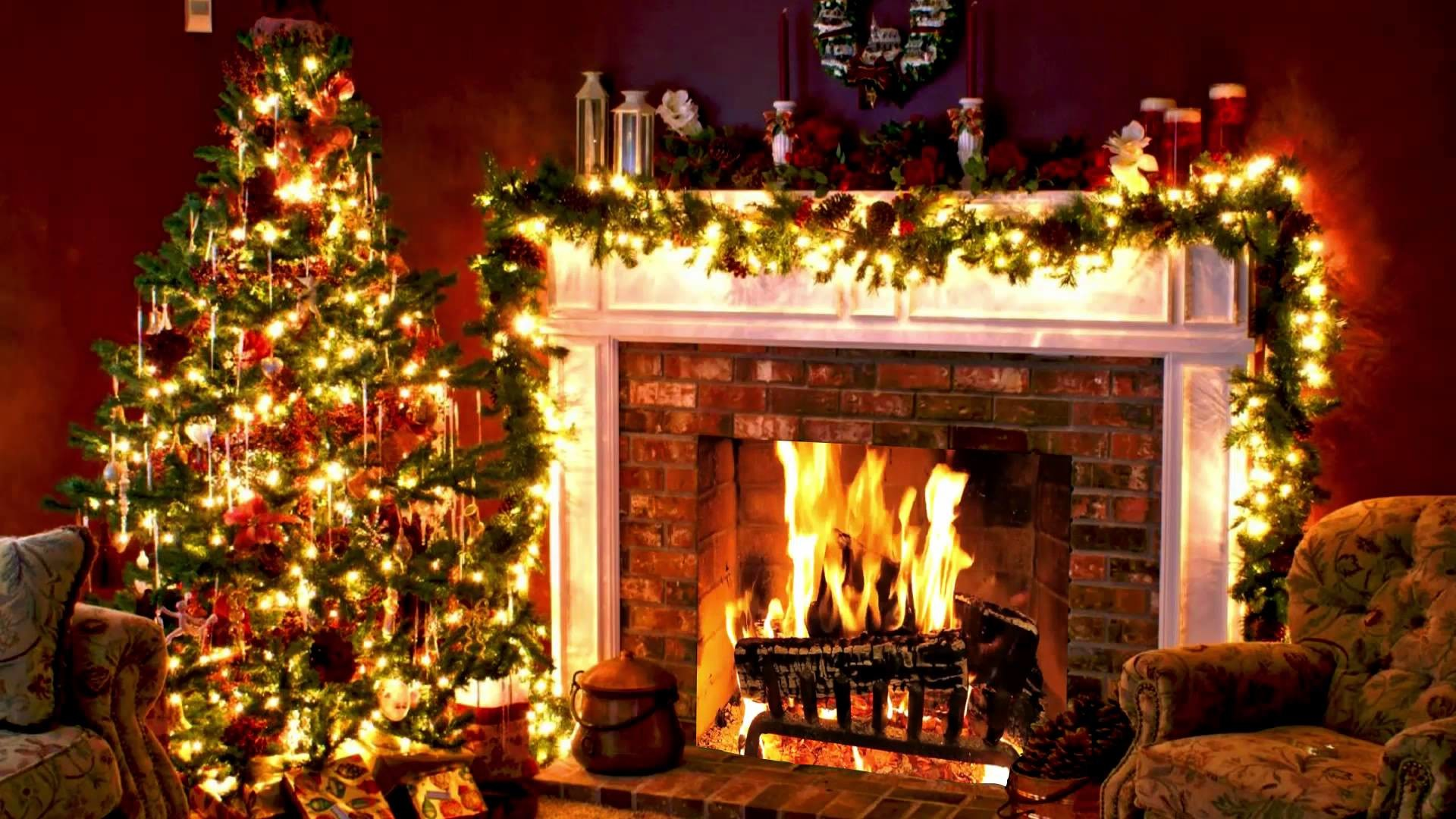 Christmas Fireplace Wallpaper 57 Images