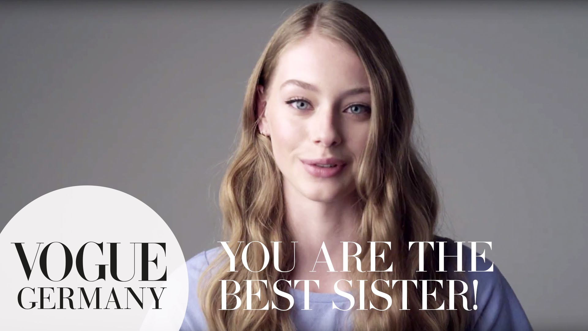 1920x1080 You're the best sister – A Message for you by Lauren de Graaf for VOGUE