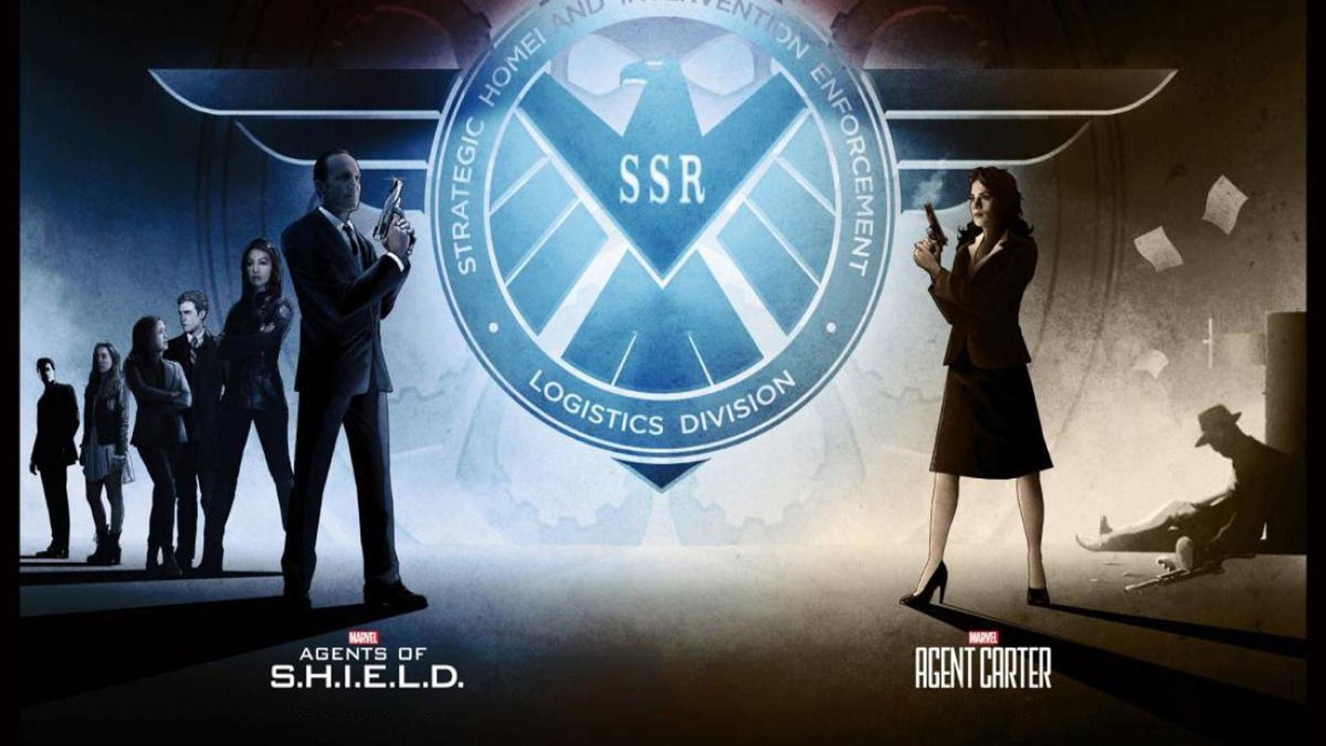 1920x1080 I found an image in one of the news pieces about Agents of S.H.I.E.L.D and  Agent Carter getting renewed and decided to make it a wallpaper.