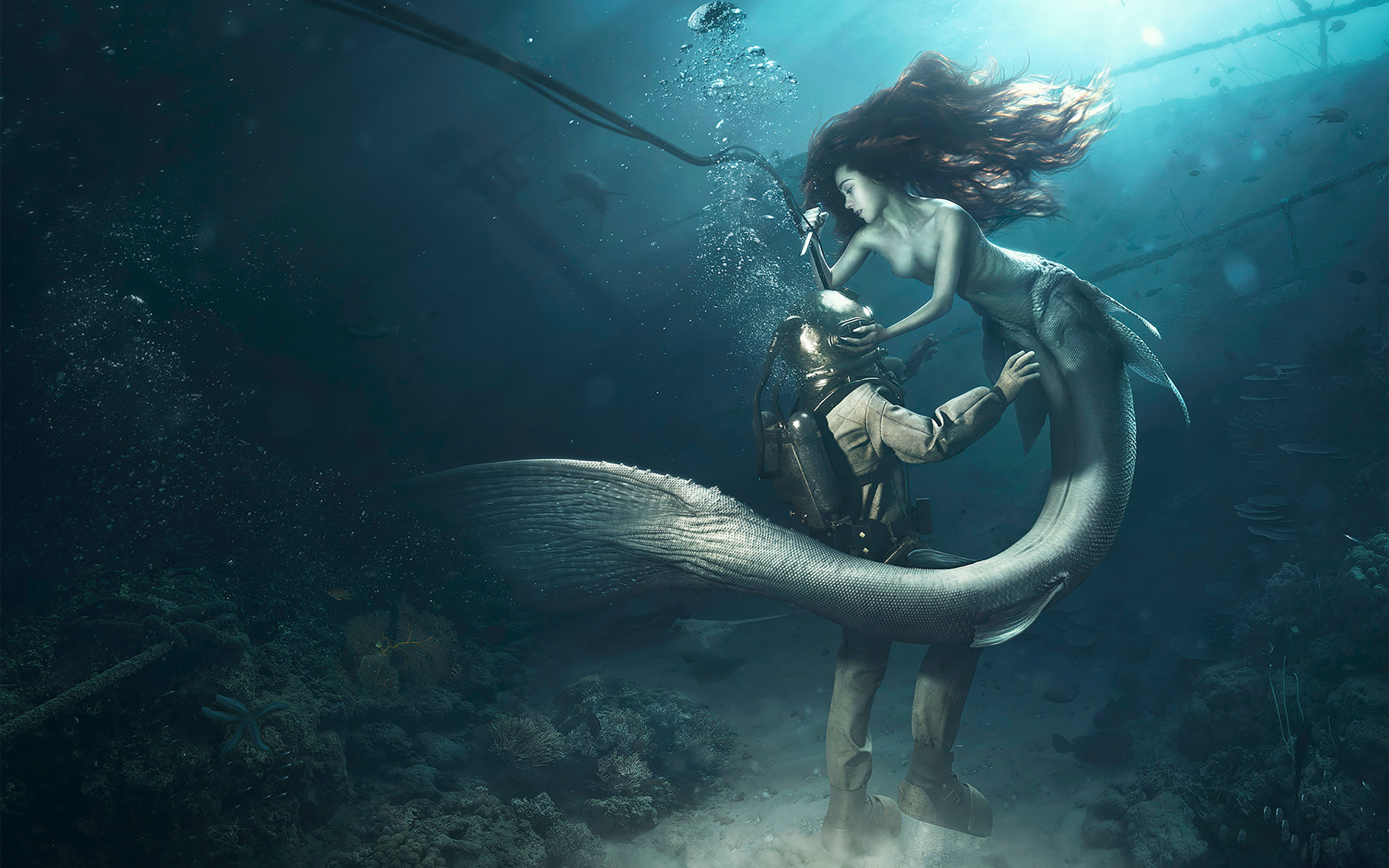 2880x1800 Diver the Mermaid