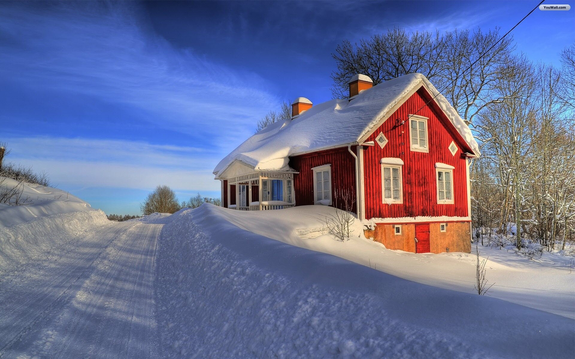 1920x1200 ... house, Snow Fall Wallpapers - Full HD wallpaper search
