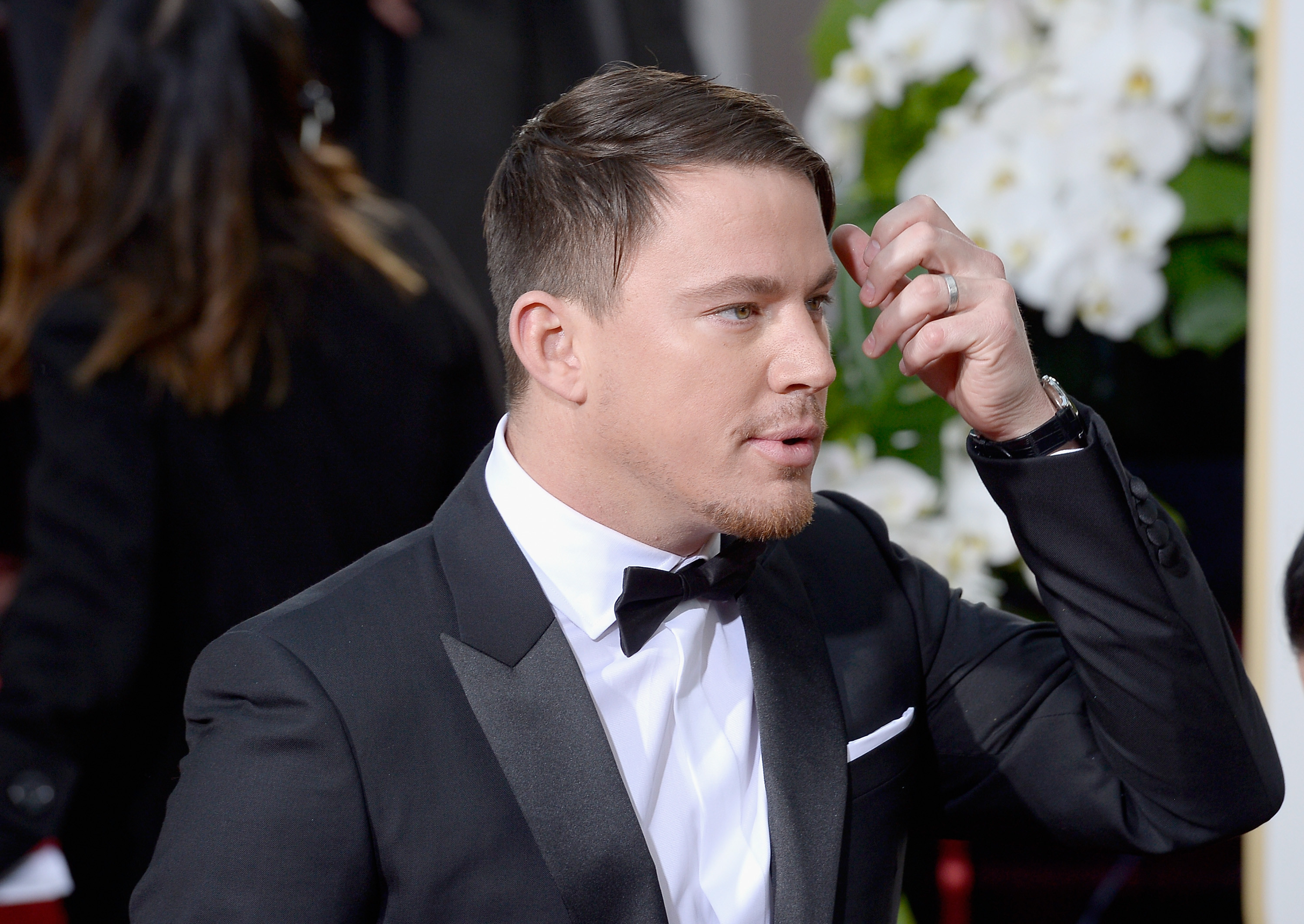 3000x2126 Channing Tatum arrives to the 73rd Annual Golden Globe Awards on Jan. 10,  2016