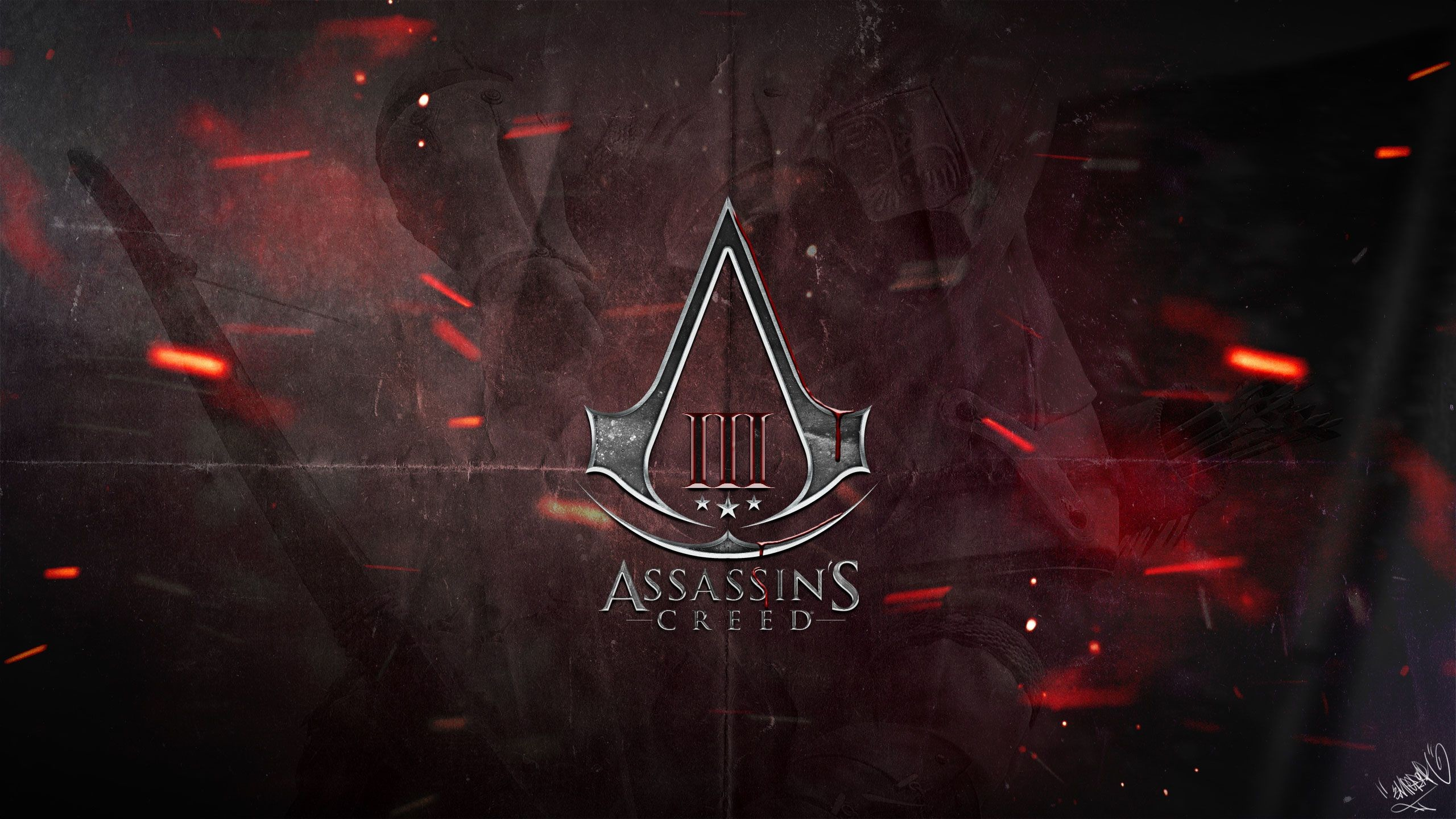 2560x1440 ... Assassins Creed Logo Wallpaper #6874086 ...