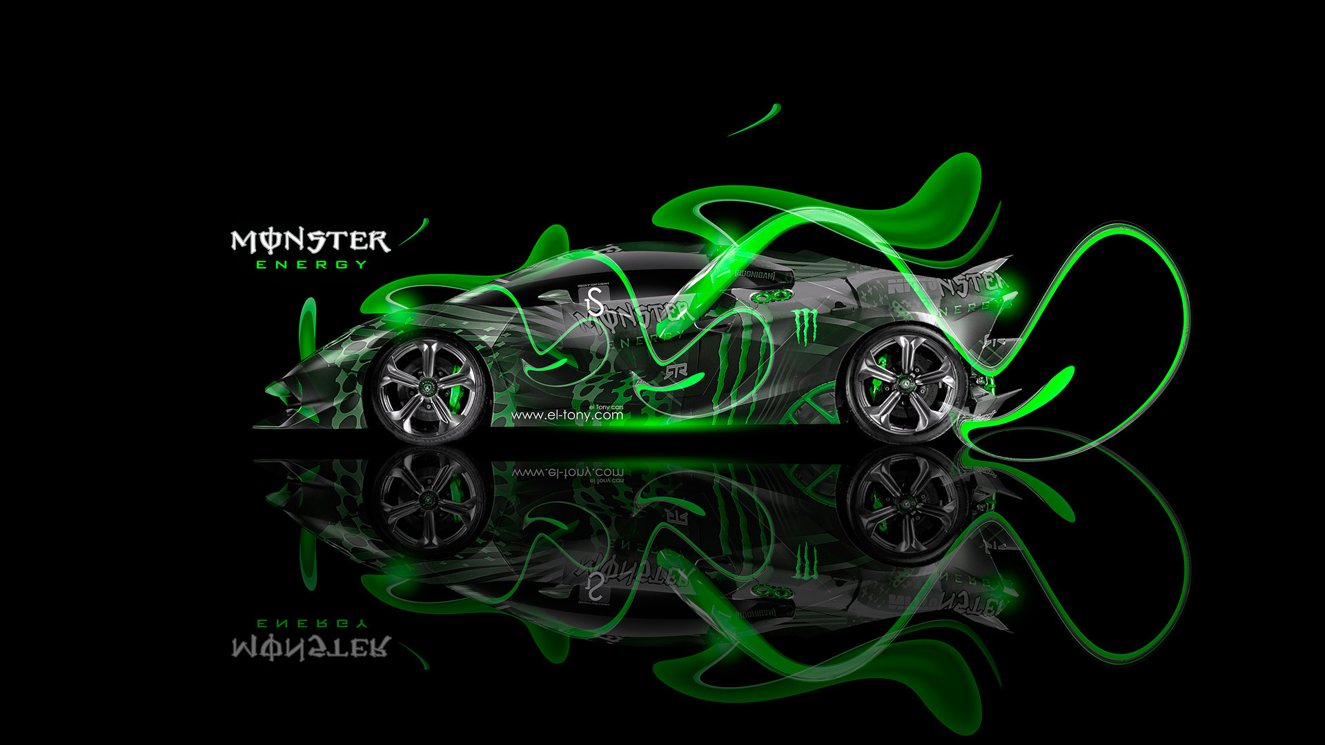 Etonnant 1920x1080 Monster Energy Ford Mustang GT Fantasy Green Acid 2013 Design By Tony Kokhan Www.el Tony.com_  (1920Ãu20141080) | Ideas For A Car | Pinterest ...