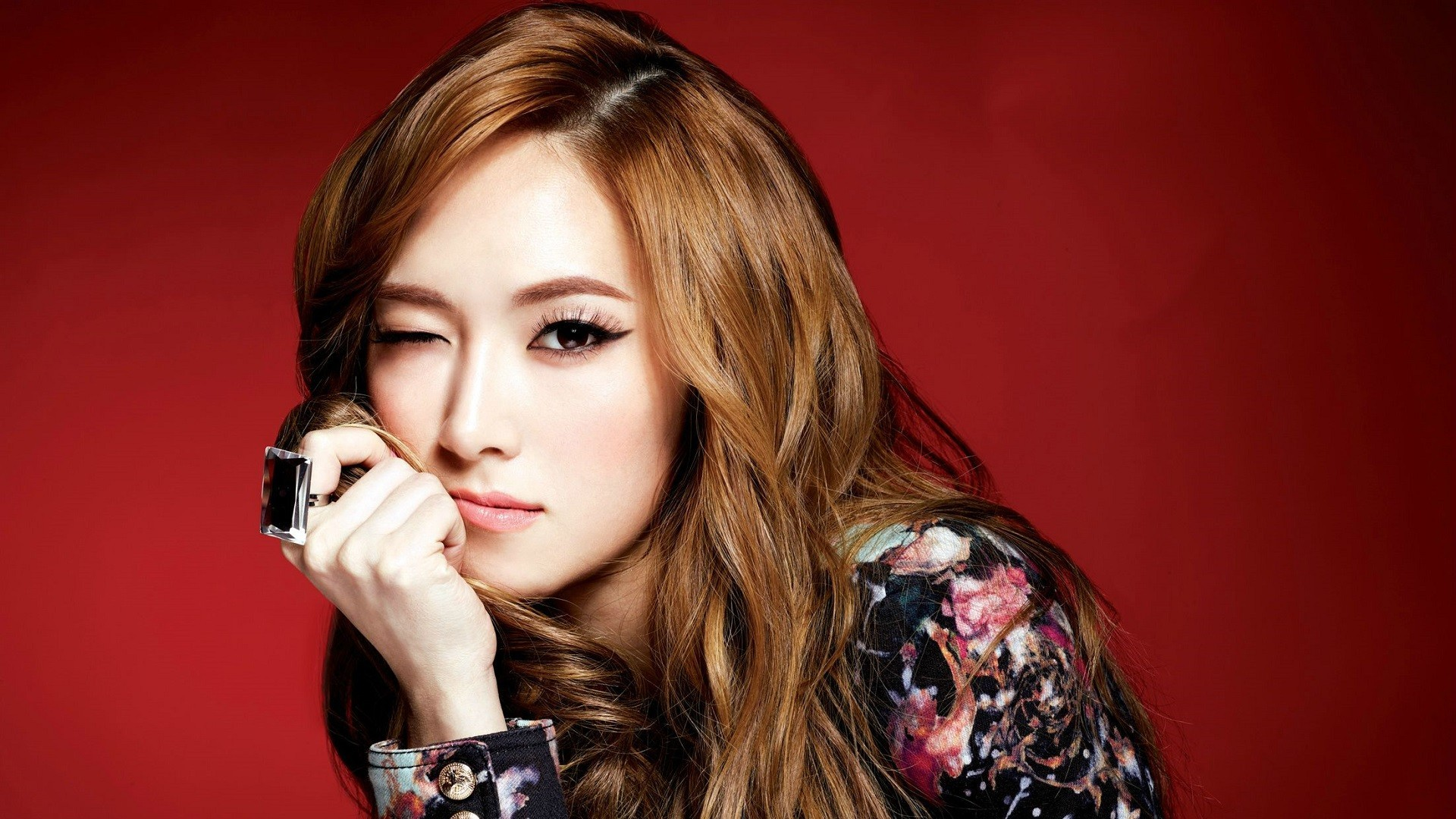 1920x1080 women Girls Generation SNSD Asians Jessica Jung wink faces - Wallpaper  (#2923651) /