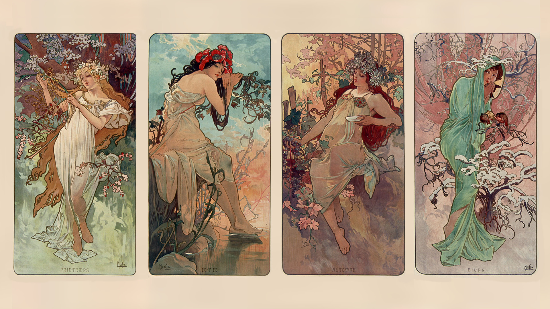 1920x1080 Alphonse Mucha Widescreen Wallpaper.