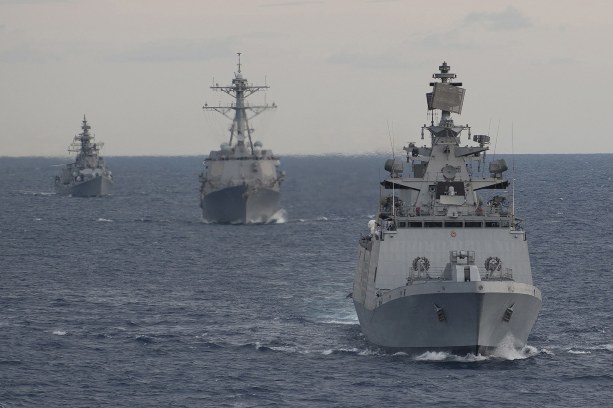 2100x1400 Exercise Malabar 2012 between Indian Navy & the US Navy [Wallpaper] ...