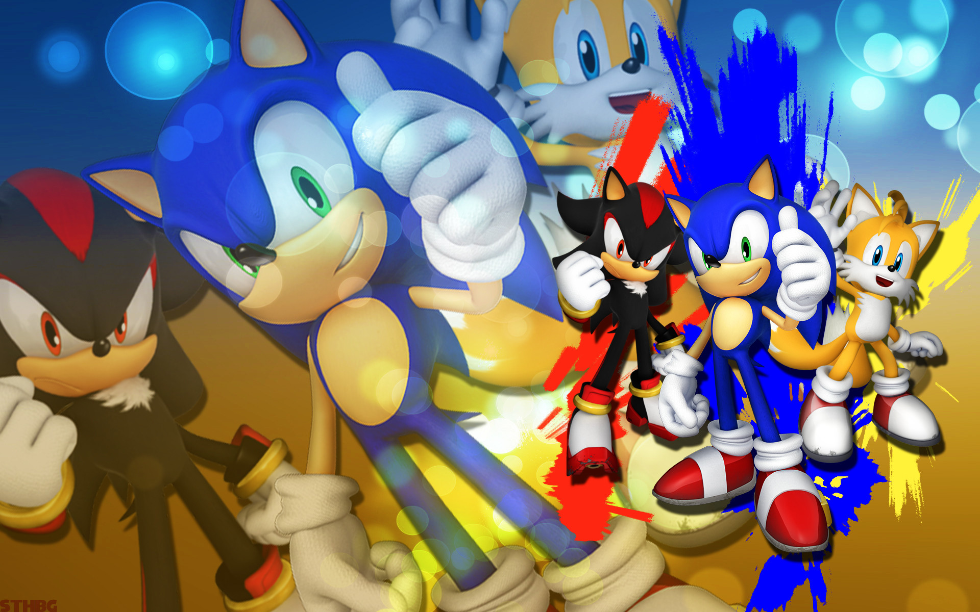 1920x1200 ... SonicTheHedgehogBG Sonic,Shadow And Tails - Wallpaper by  SonicTheHedgehogBG
