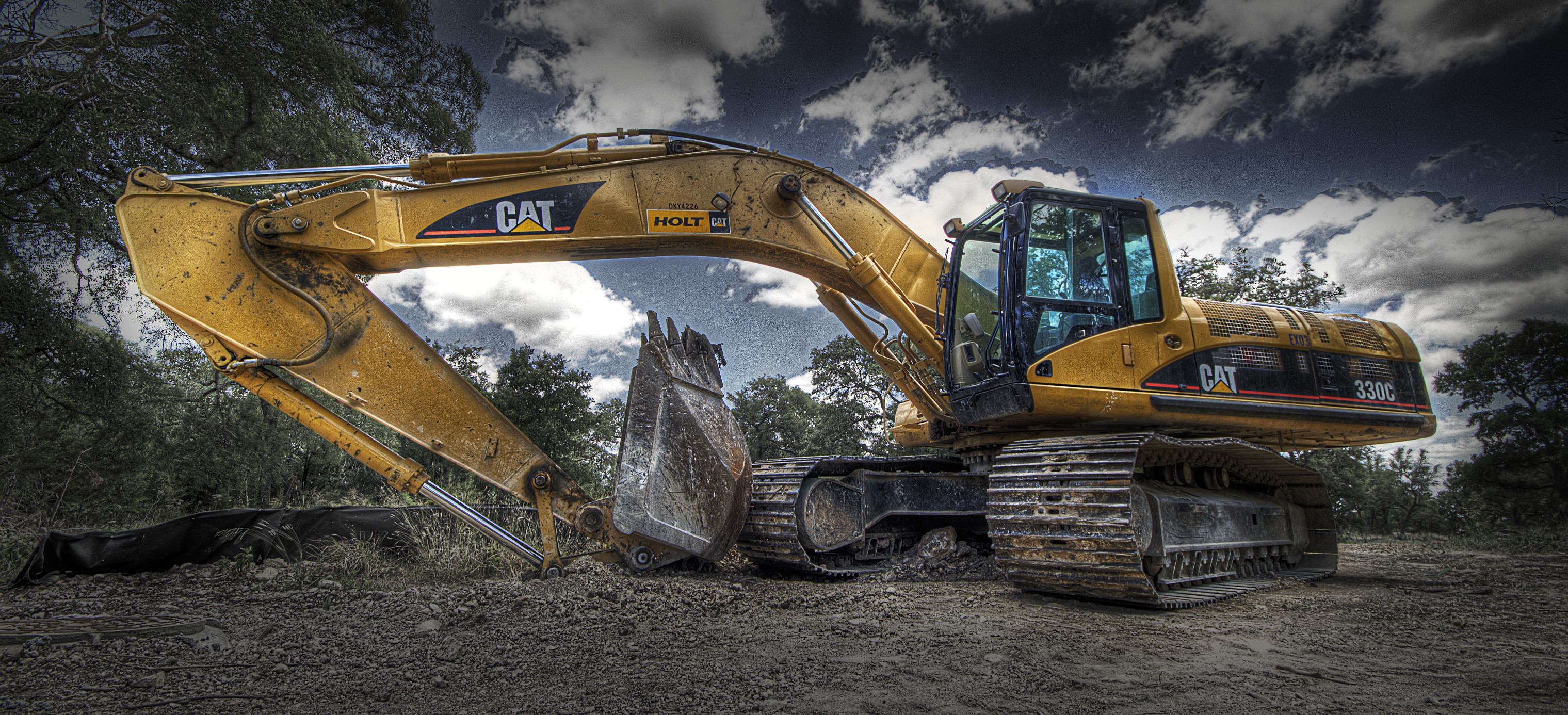 3039x1386 Excavator HD Wallpaper | Full HD Pictures