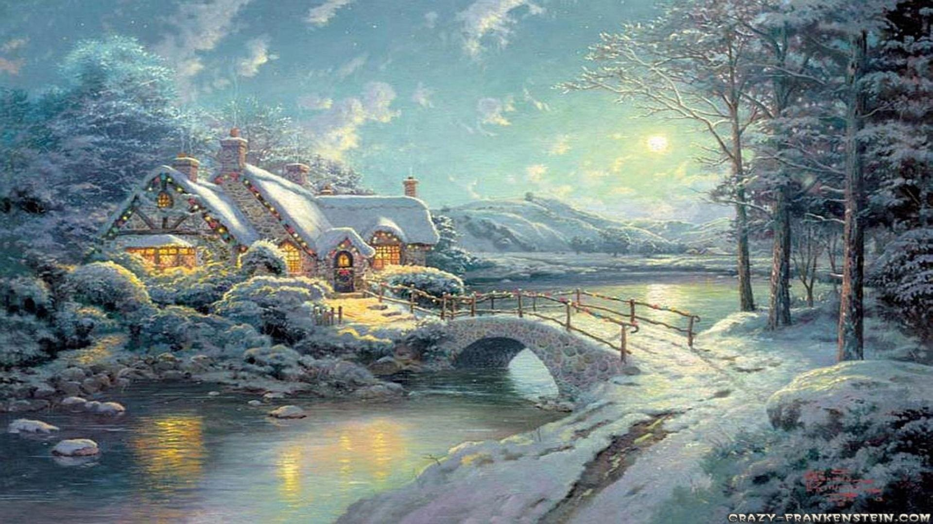 1920x1080 Christmas Moonlight