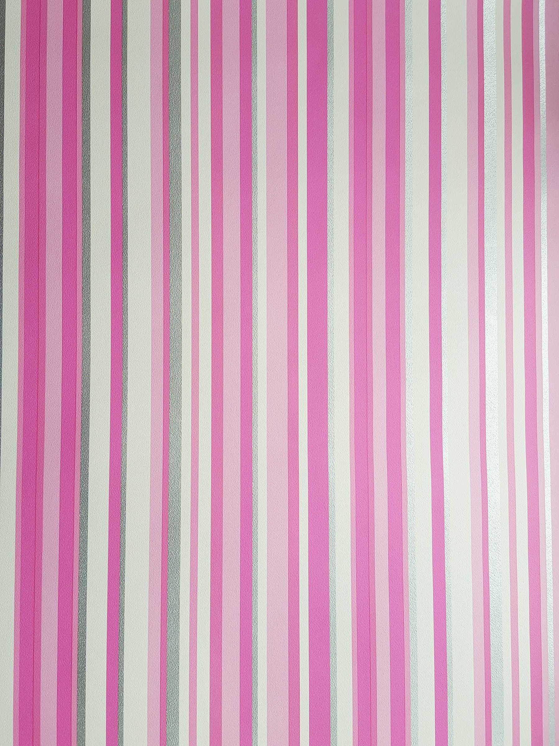 1800x2400 New Trend Girls Pink Silver White Barcode Stripe Wallpaper