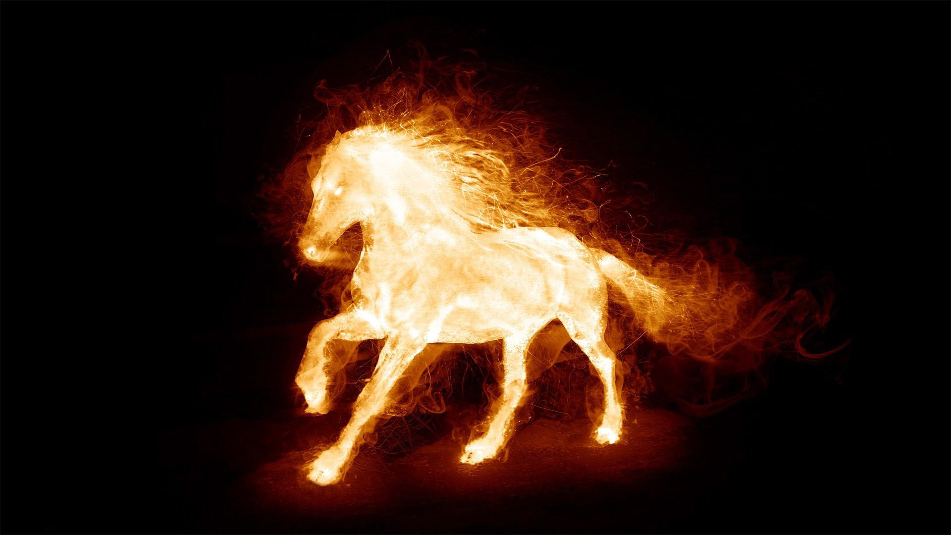 1920x1080 Fire Horse HD Wide Wallpaper For Widescreen (64 Wallpapers)
