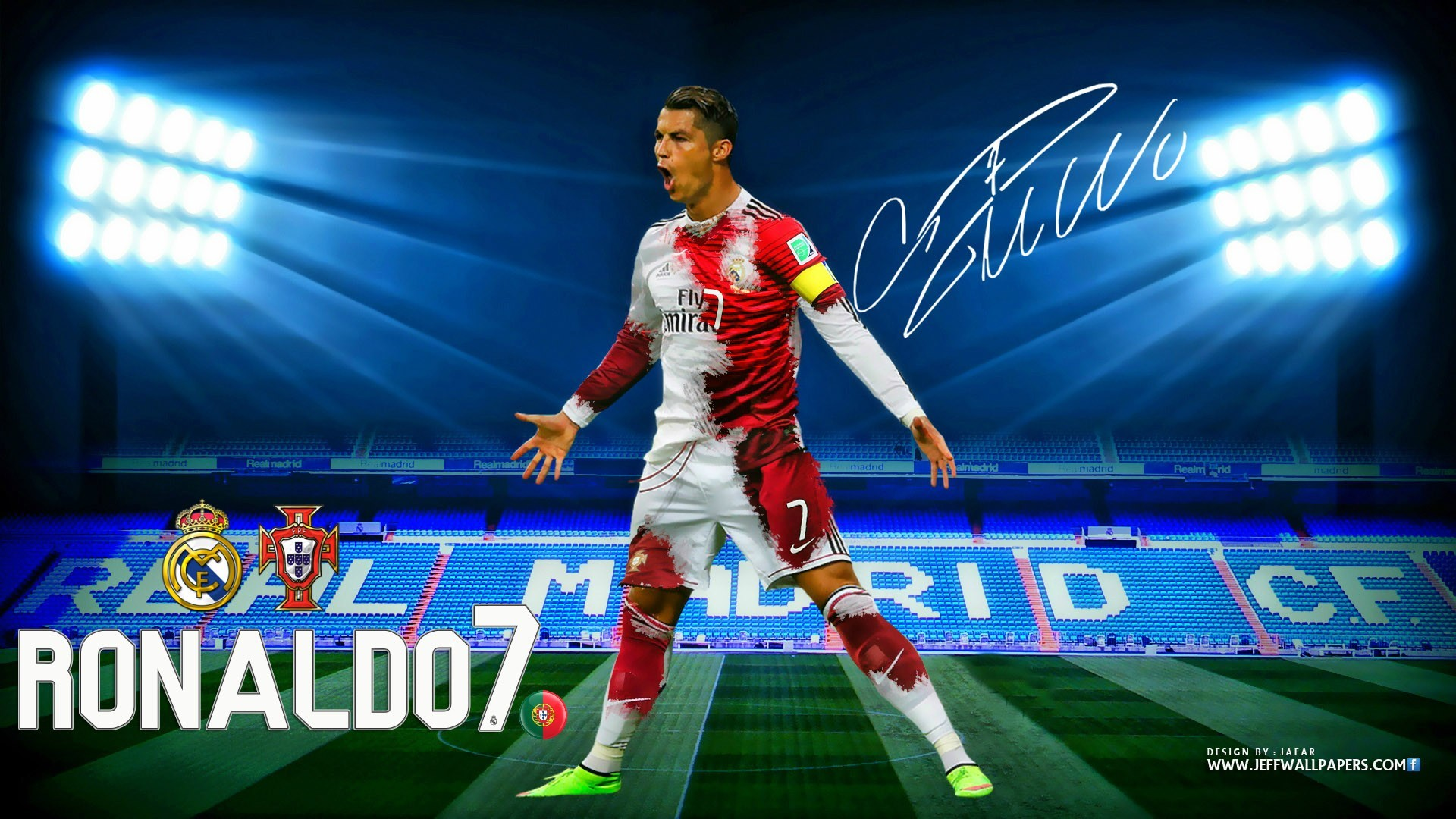 X Download Cristiano Ronaldo Cr Real Madrid Kit  Hd Wallpaper